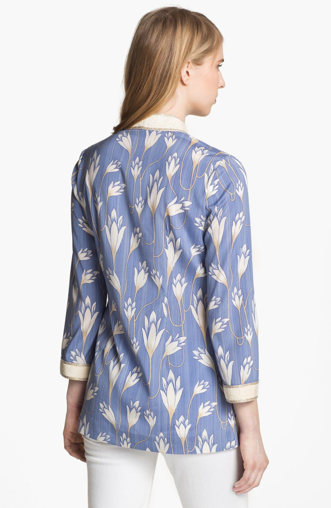 Alternate Image 2  - Tory Burch 'Sabrina' Stretch Silk Tunic