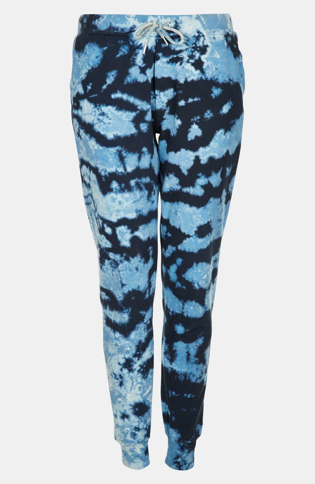 Alternate Image 3  - Topshop Tie Dye Tapered Sweatpants