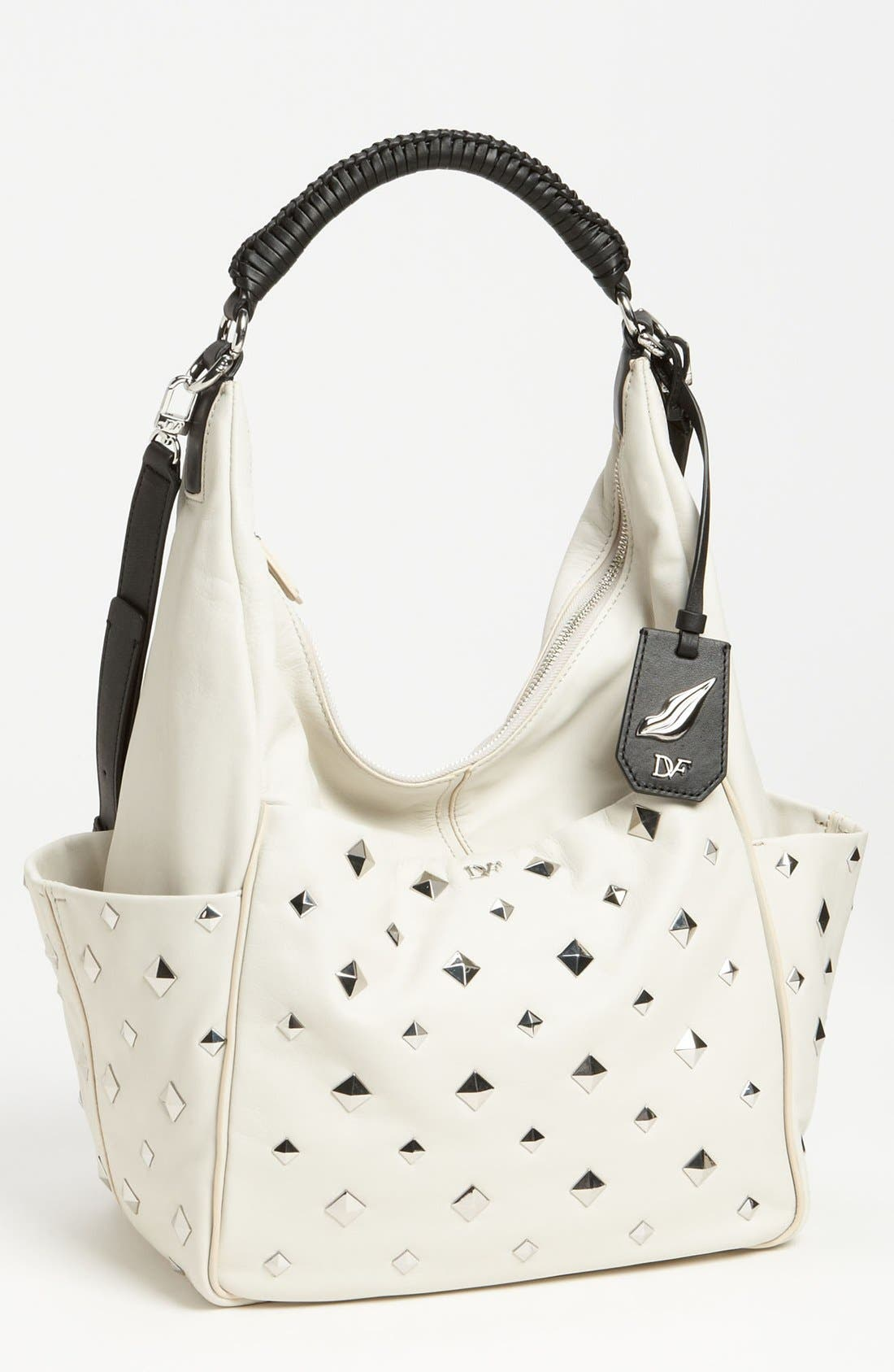 Main Image - Diane von Furstenberg 'Franco' Studded Leather Hobo