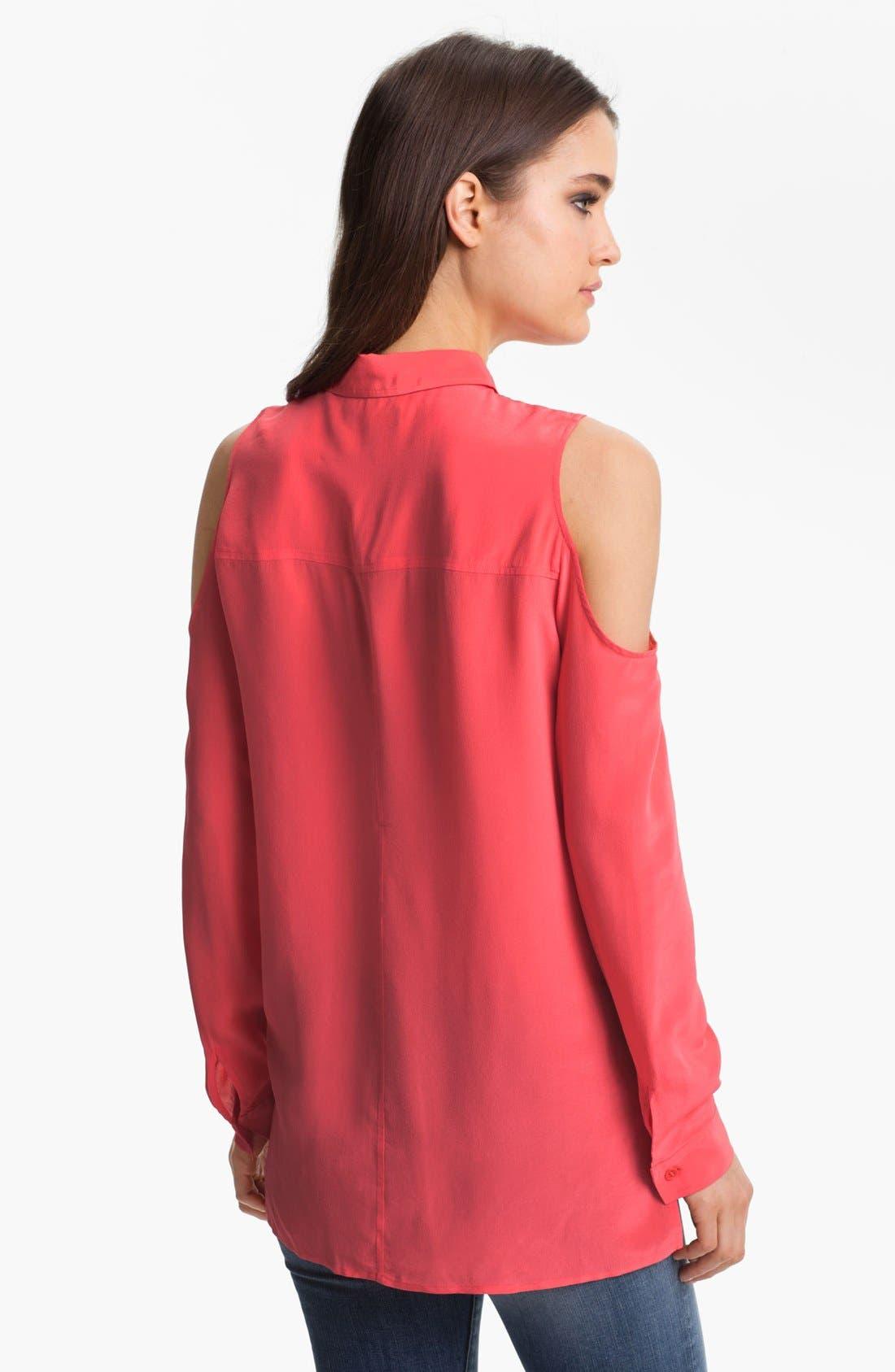 Alternate Image 2  - Trouvé Cutout Shoulder Silk Blouse