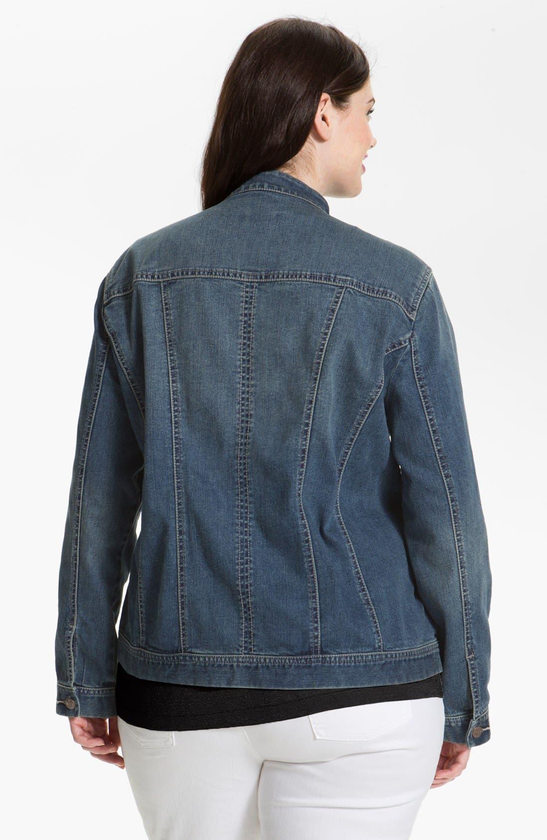 Alternate Image 2  - NYDJ 'Penny' Jean Jacket (Plus Size)