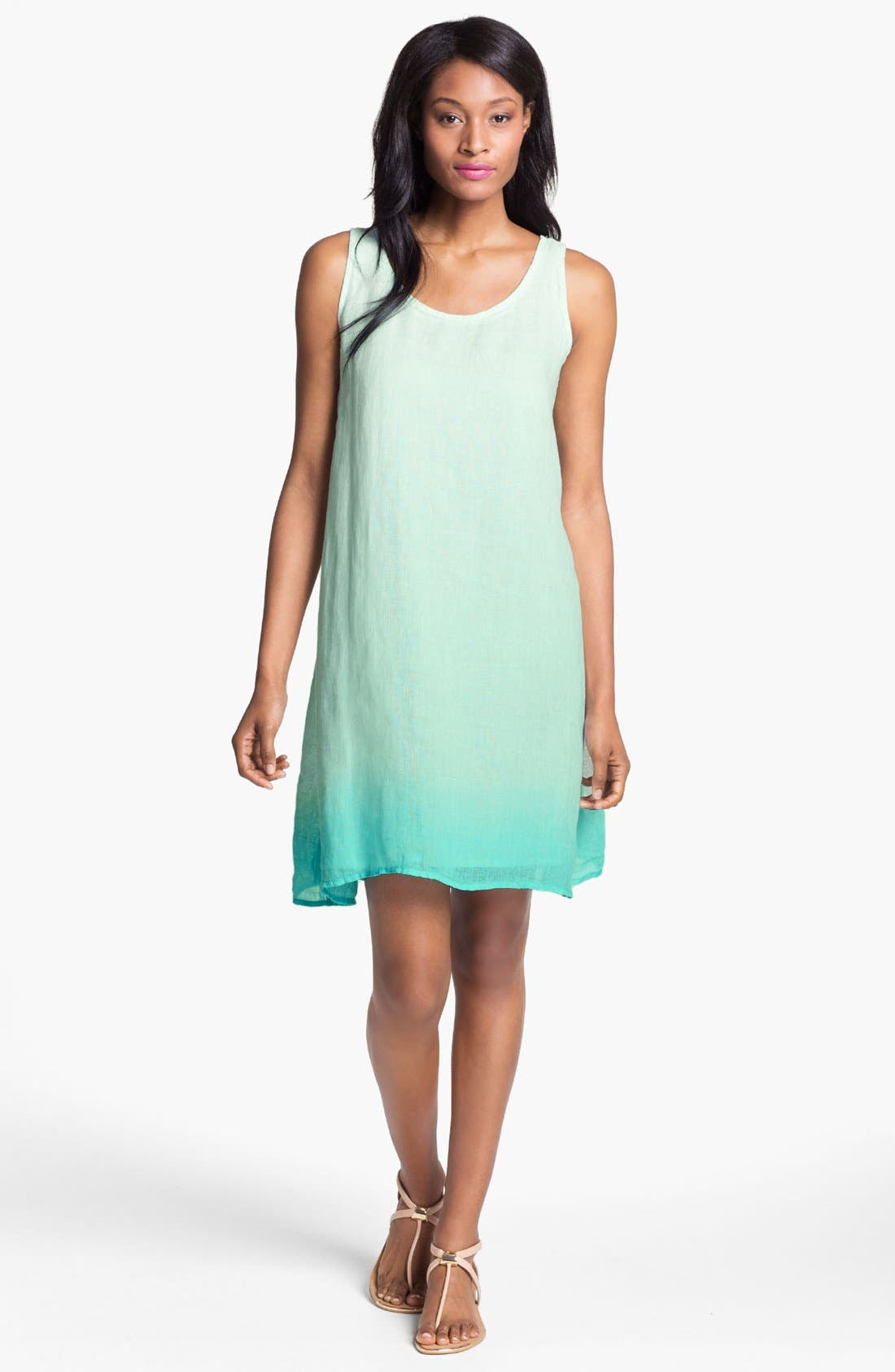 Alternate Image 1 Selected - Eileen Fisher Scoop Neck Layering Dress with Slip