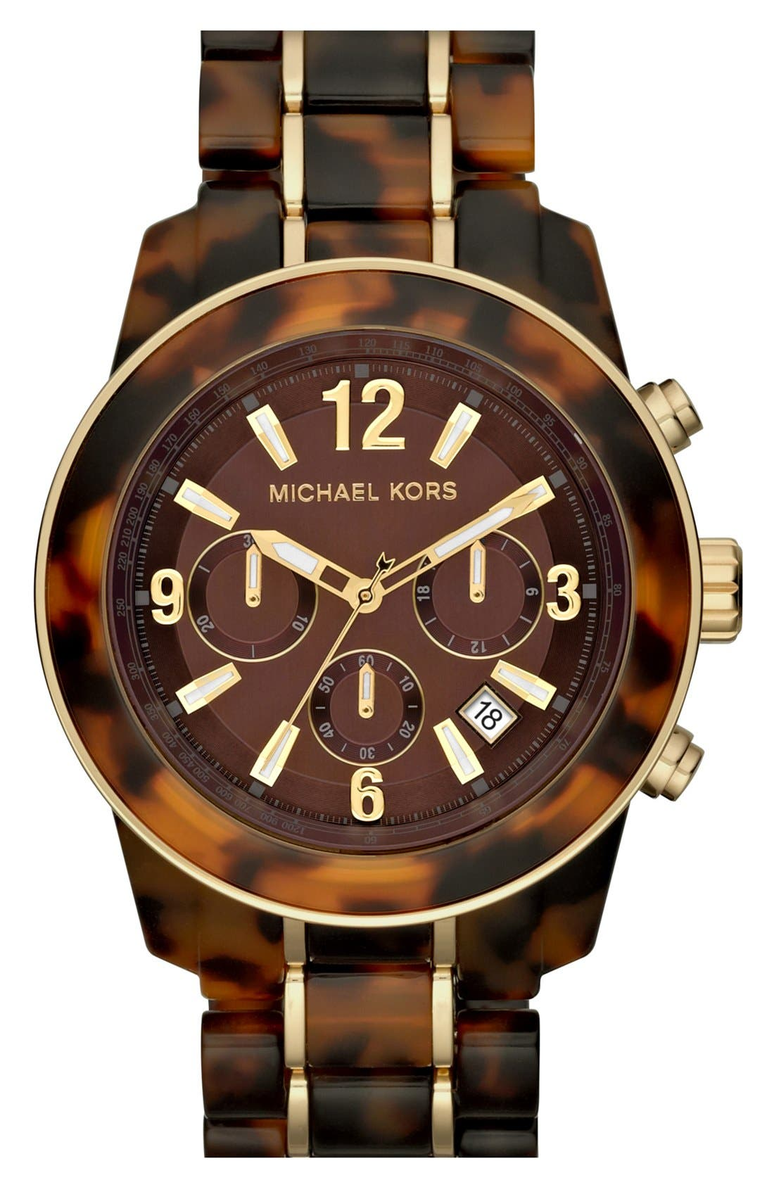 Alternate Image 1 Selected - Michael Kors 'Preston' Chronograph Bracelet Watch, 43mm