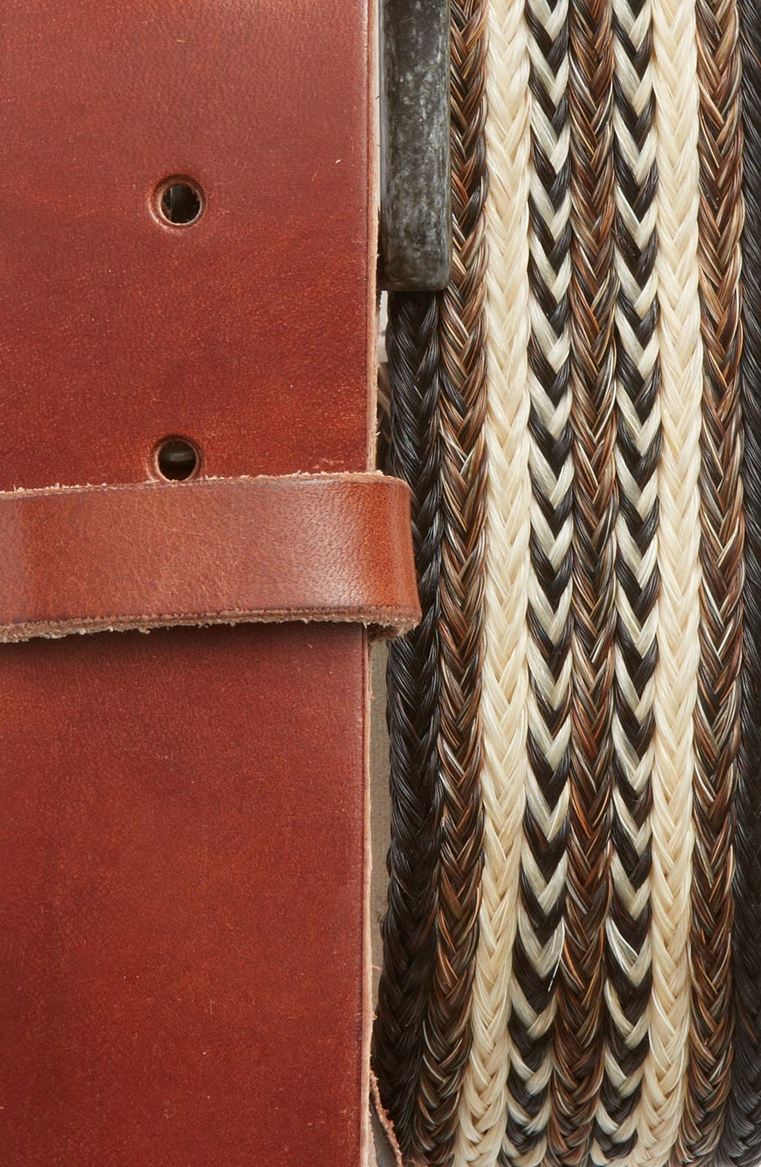Alternate Image 2  - Will Leather Goods Horsehair & Leather Belt