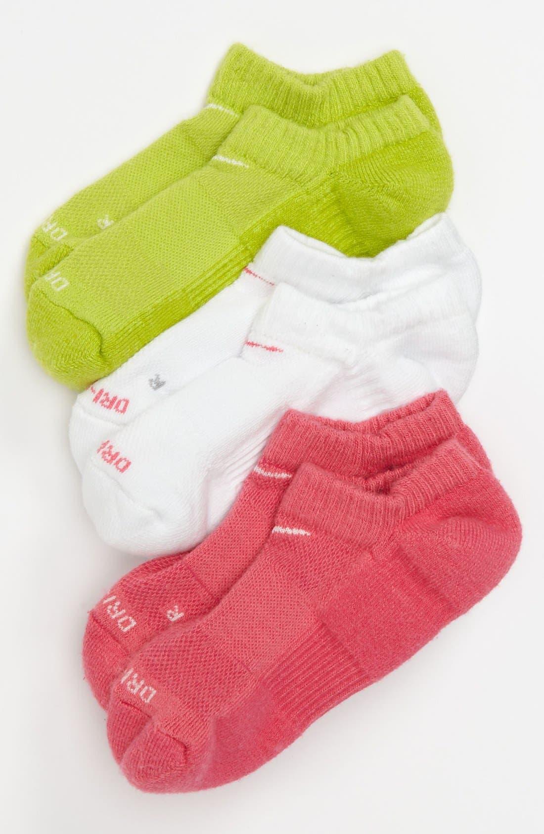 Alternate Image 1 Selected - Nike Cushioned Dri-FIT Socks (3-Pack) (Big Girls)