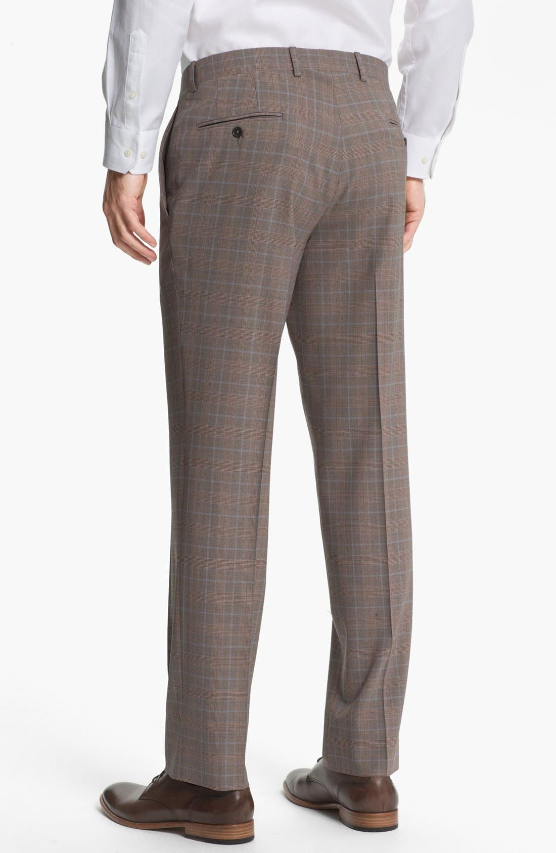 Alternate Image 5  - Ted Baker London Trim Fit Plaid Suit