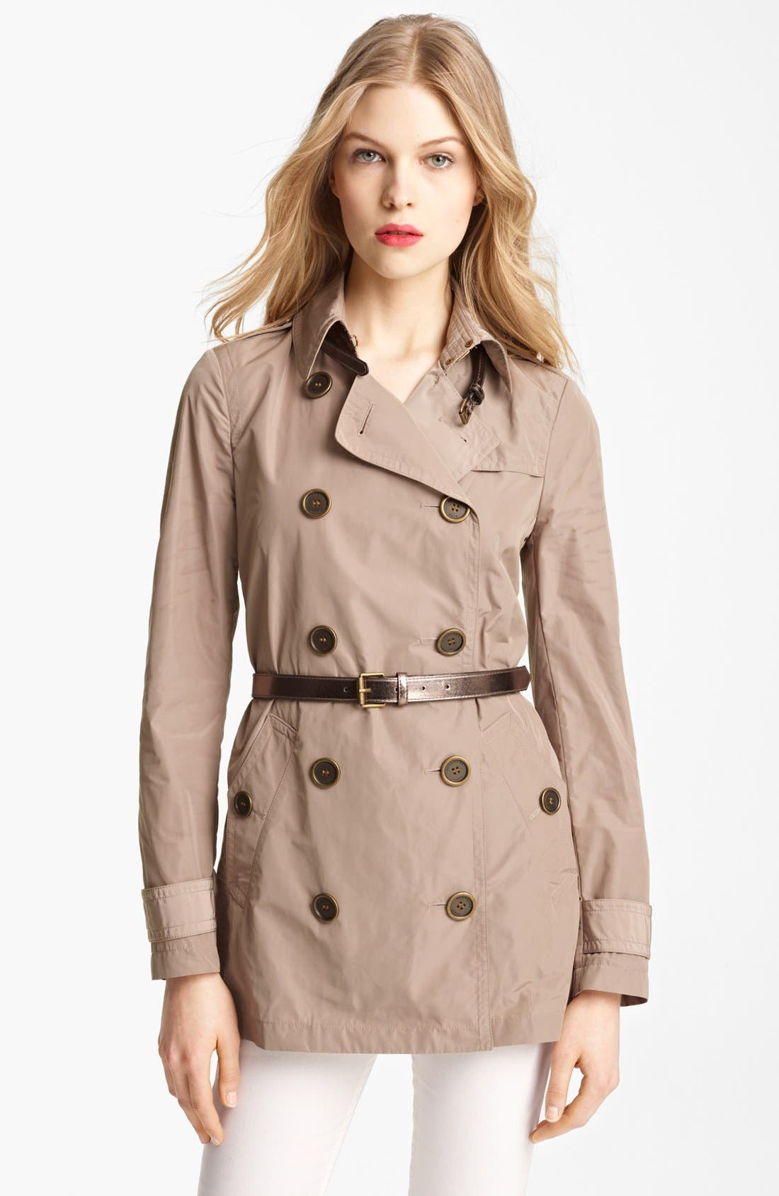 Alternate Image 1 Selected - Burberry Brit 'Alcester' Double Breasted Trench (Online Only)