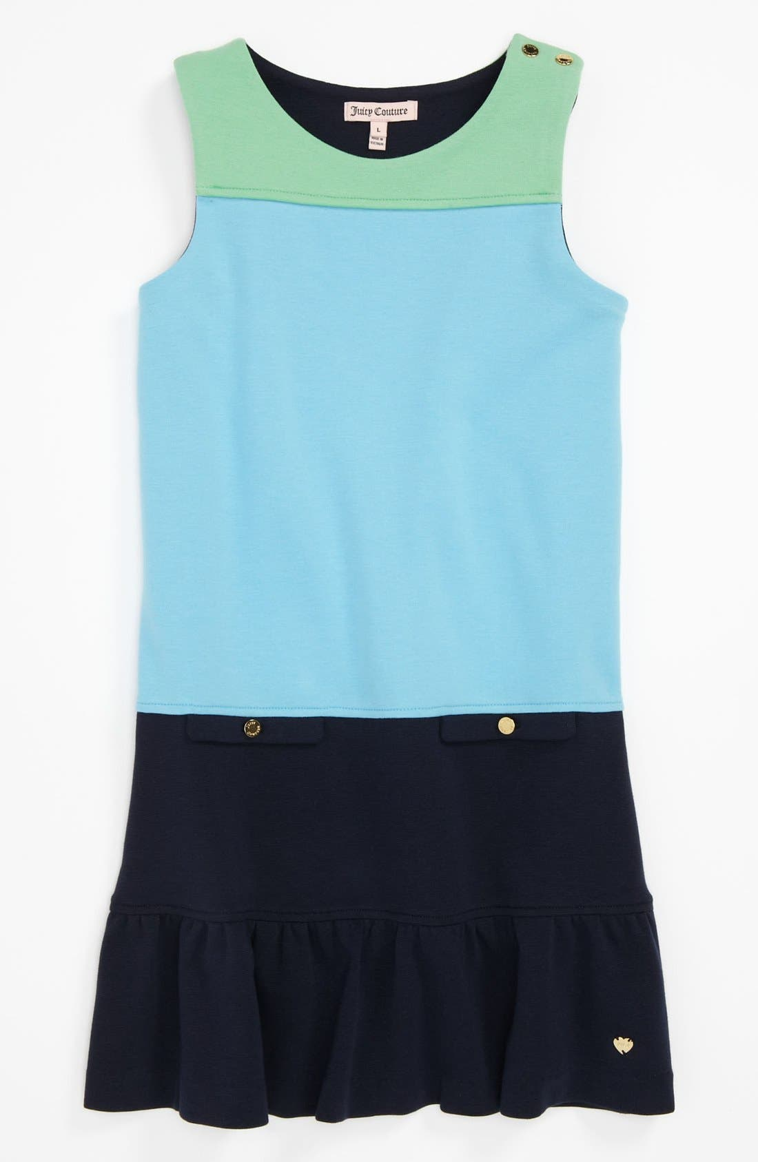 Alternate Image 1 Selected - Juicy Couture Colorblock Ponte Knit Dress (Big Girls)