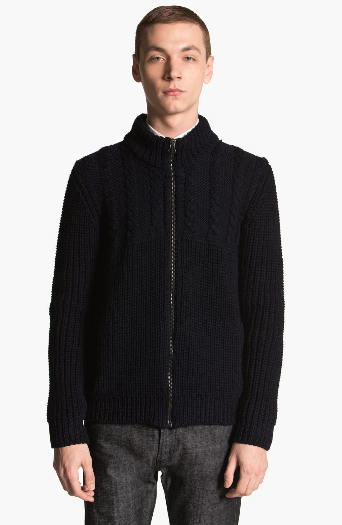 Main Image - Lanvin Cable Knit Zip Sweater