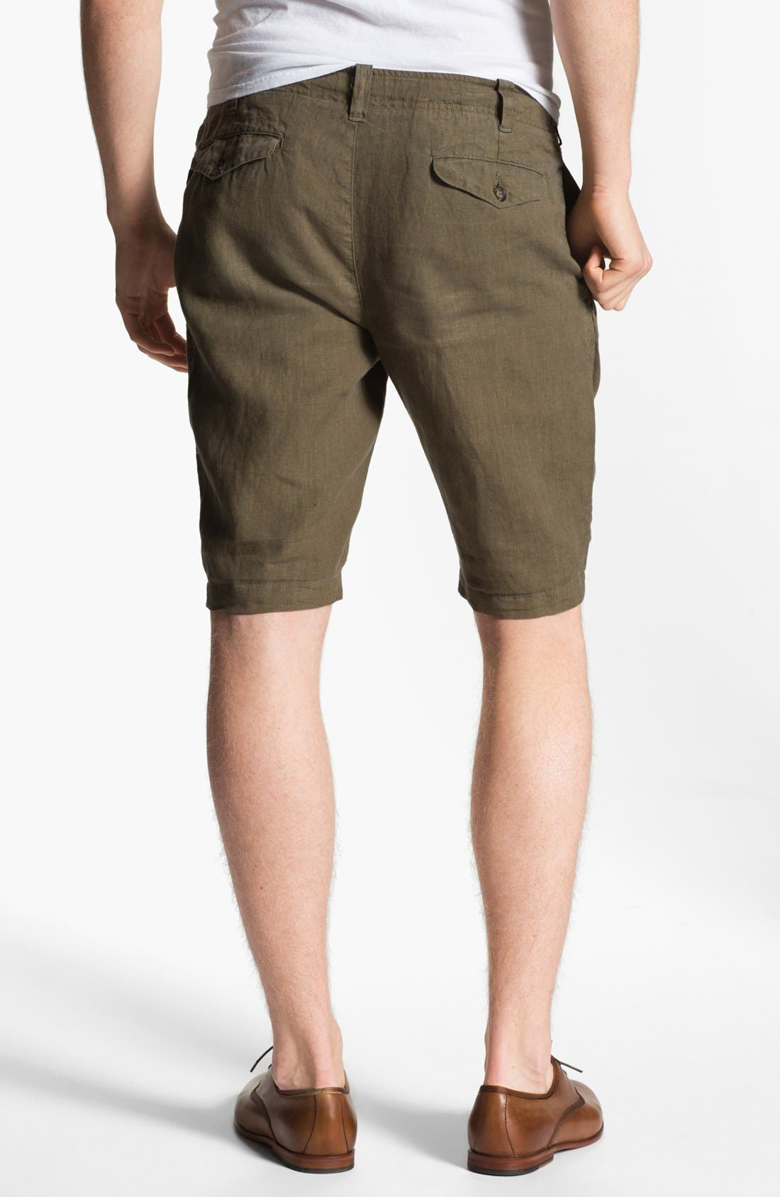 Alternate Image 2  - Vince Flat Front Linen Shorts