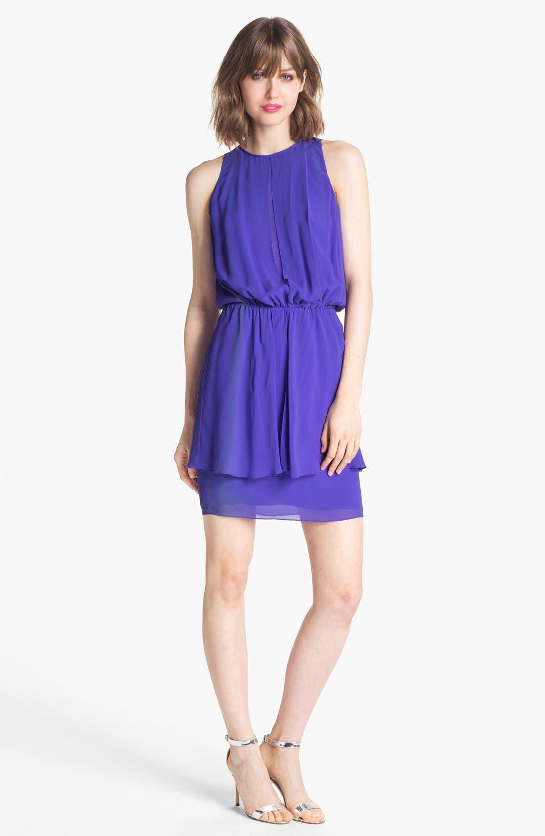 Alternate Image 1  - Nicole Miller Blouson Peplum Dress