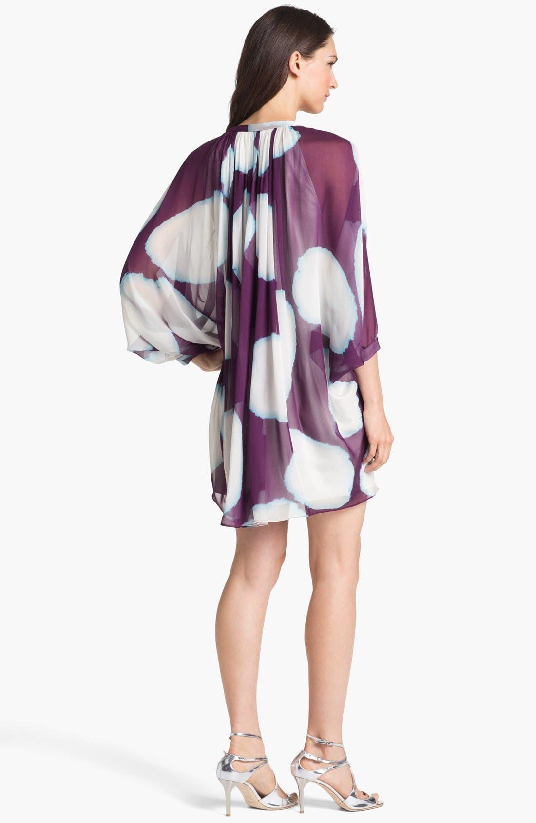 Alternate Image 2  - Diane von Furstenberg 'Fleurette' Print Silk Caftan Dress