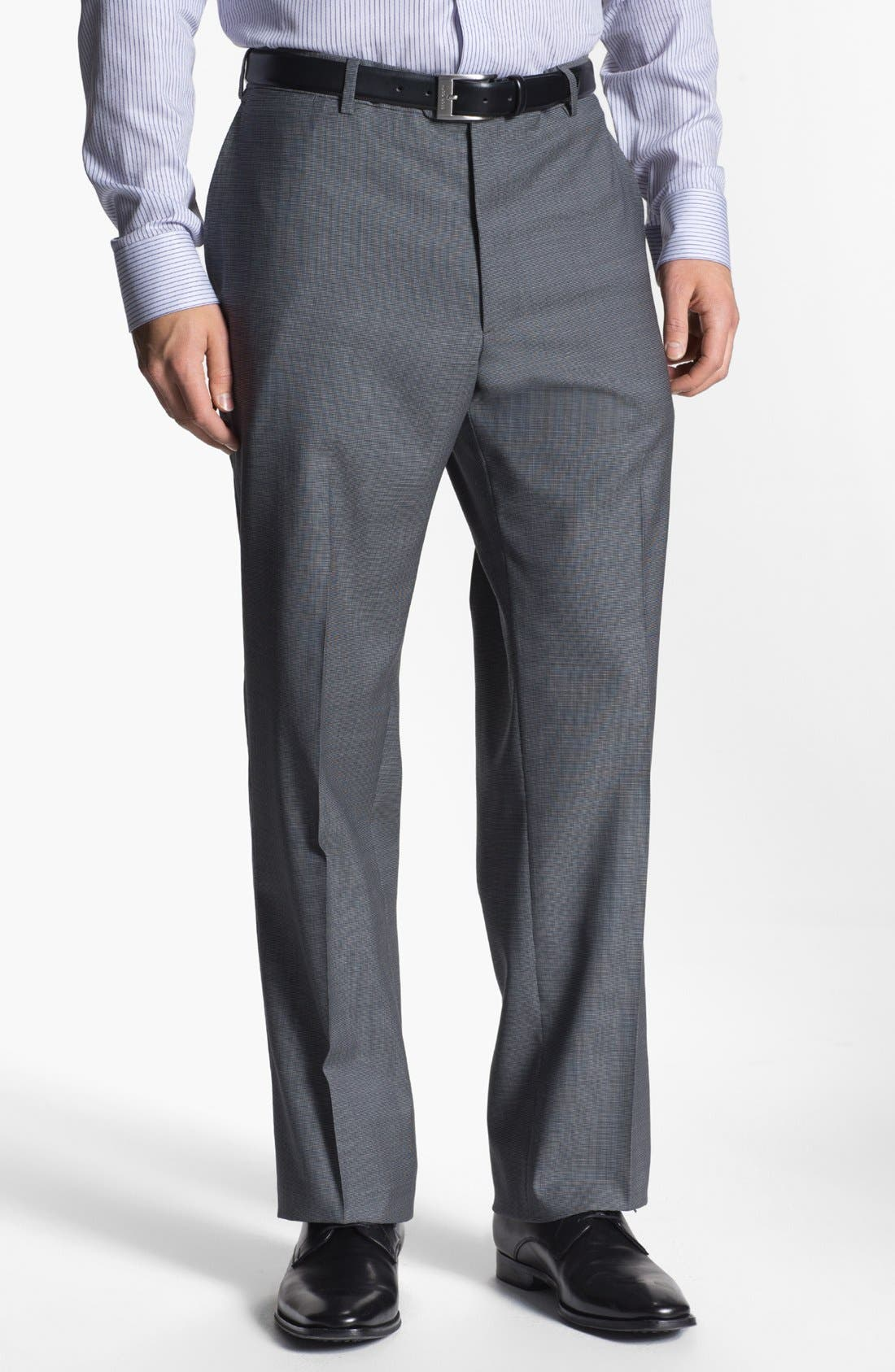 Alternate Image 4  - Armani Collezioni 'Giorgio' Tic Weave Wool Suit