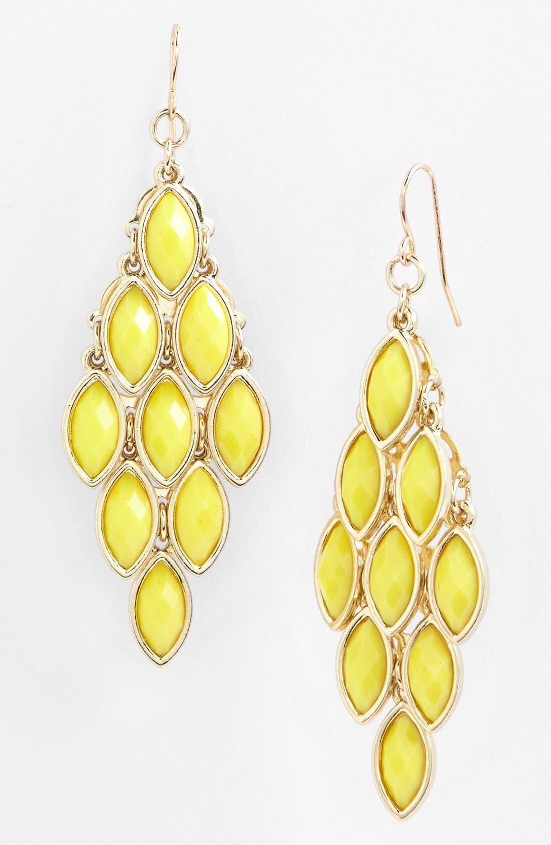 Alternate Image 1 Selected - Tasha Stone Chandelier Earrings