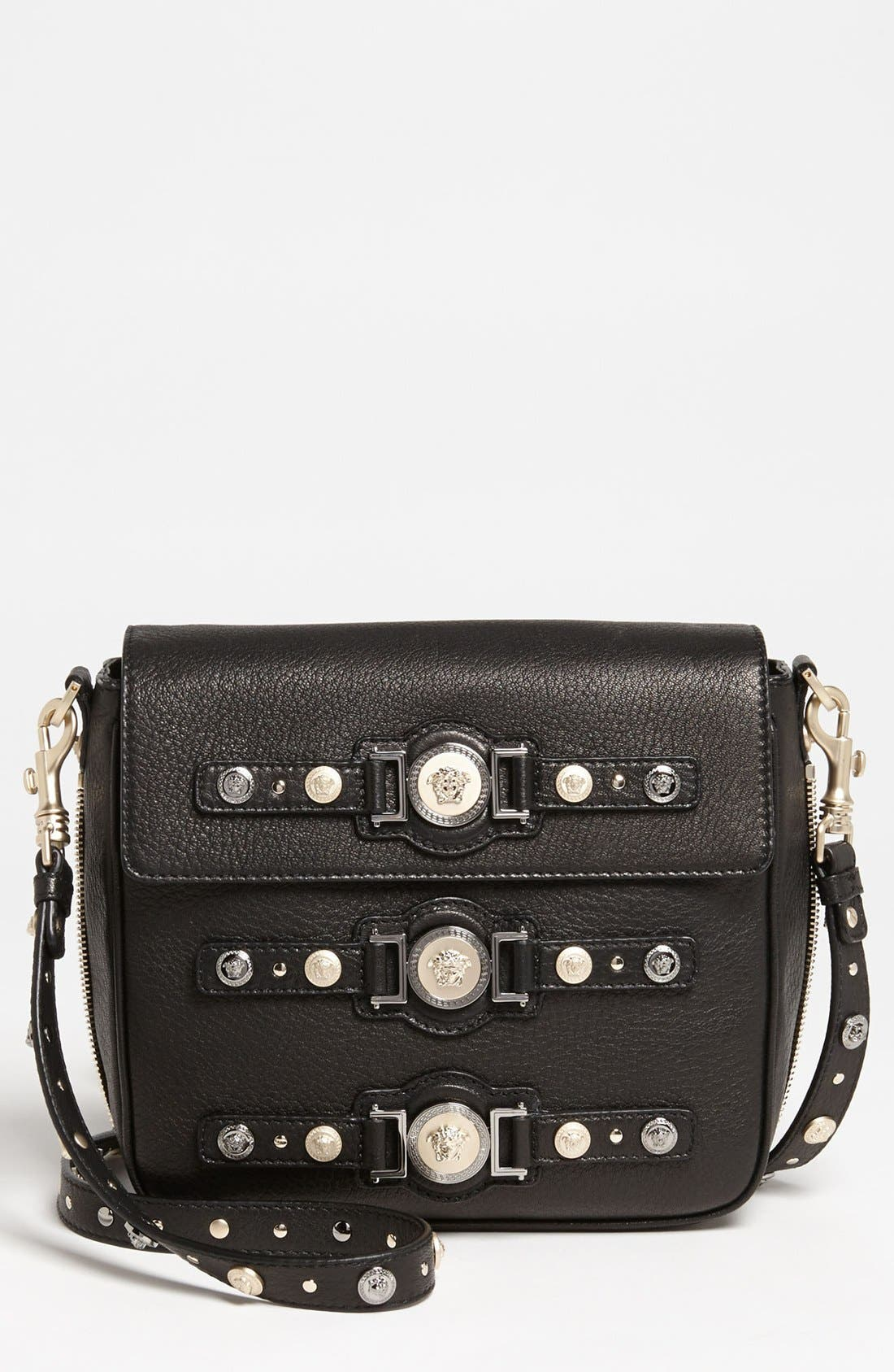 Alternate Image 1 Selected - Versace 'Classic - Triple Medusa' Leather Crossbody Bag