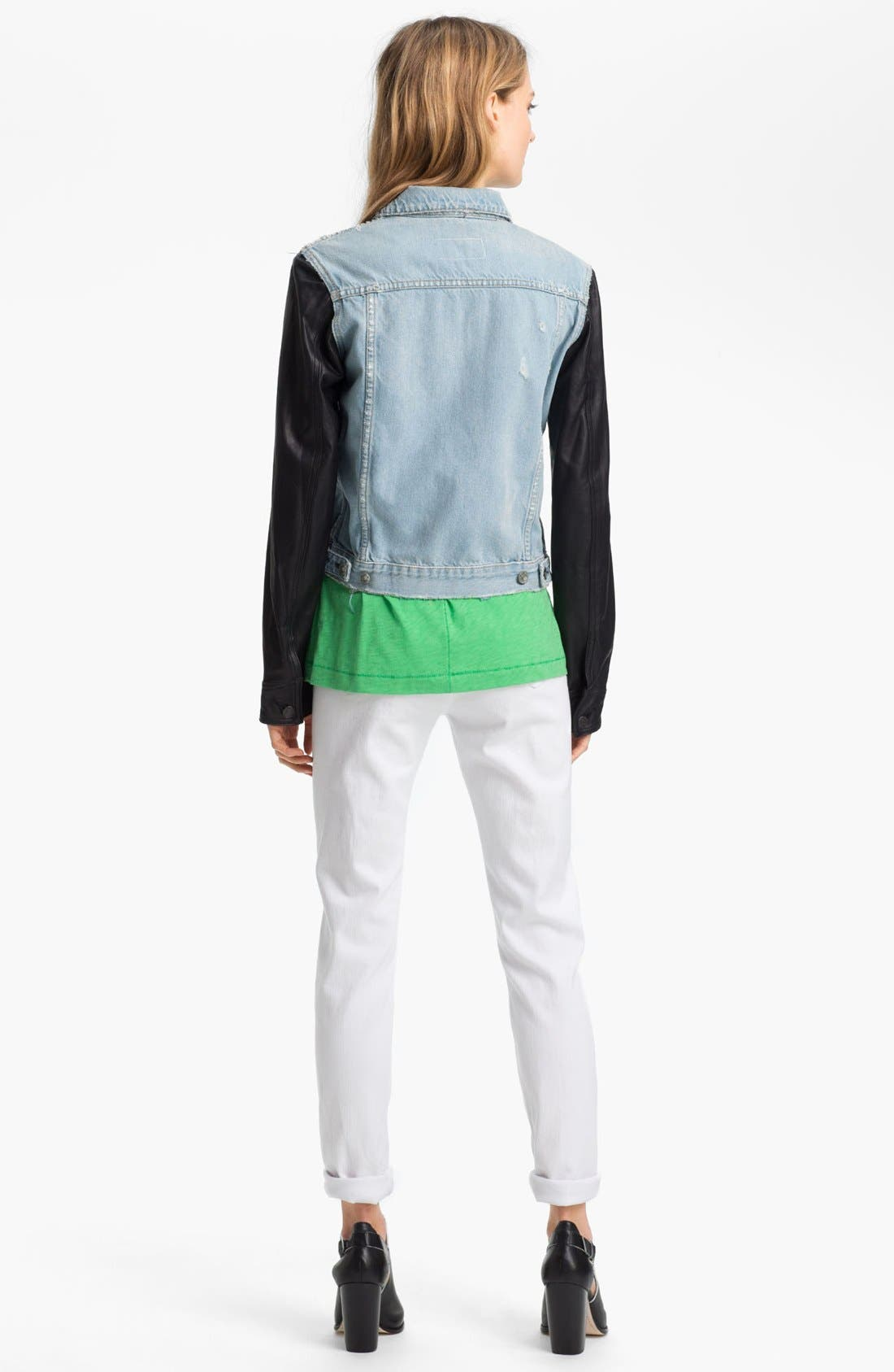 Alternate Image 4  - rag & bone/JEAN Leather & Denim Jacket