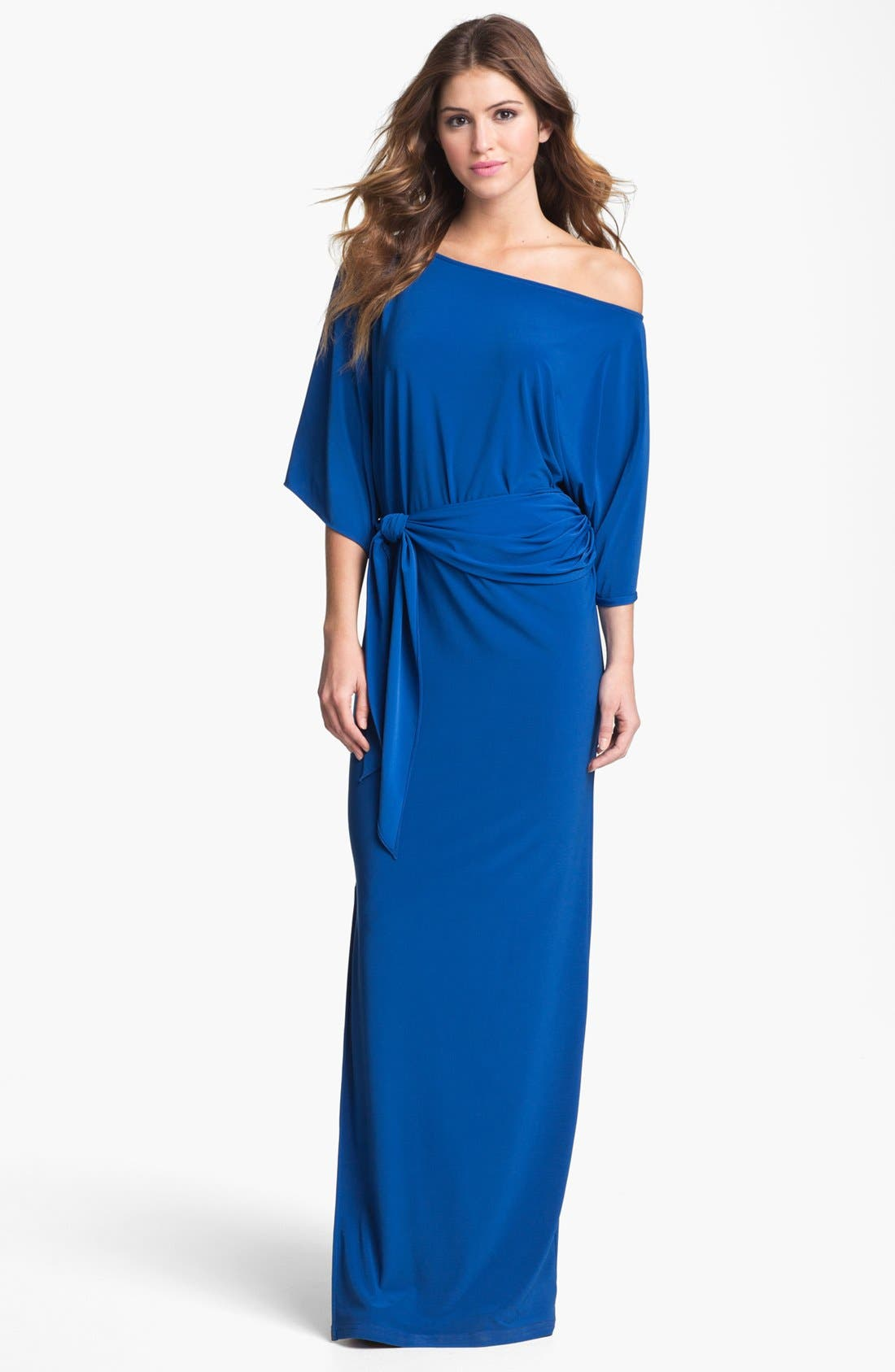 Alternate Image 1 Selected - Abi Ferrin 'Nicole' Off Shoulder Jersey Maxi Dress