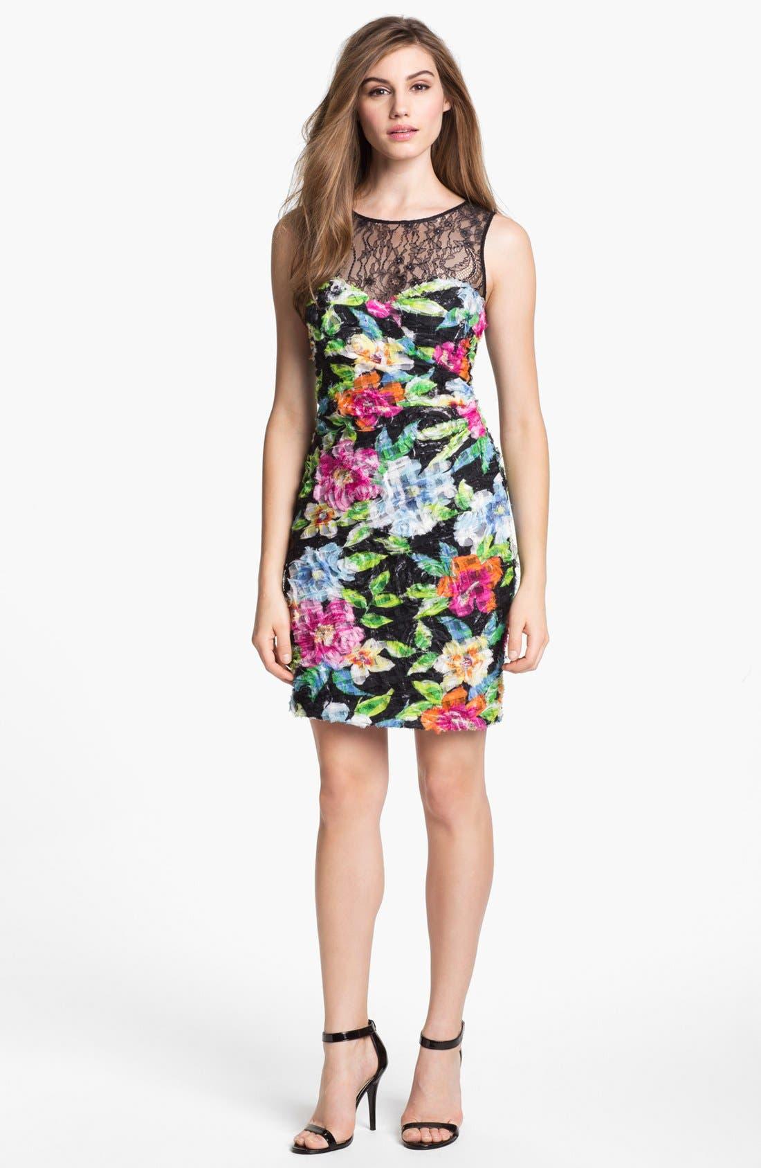 Main Image - Aidan Mattox Floral Print Sheath Dress