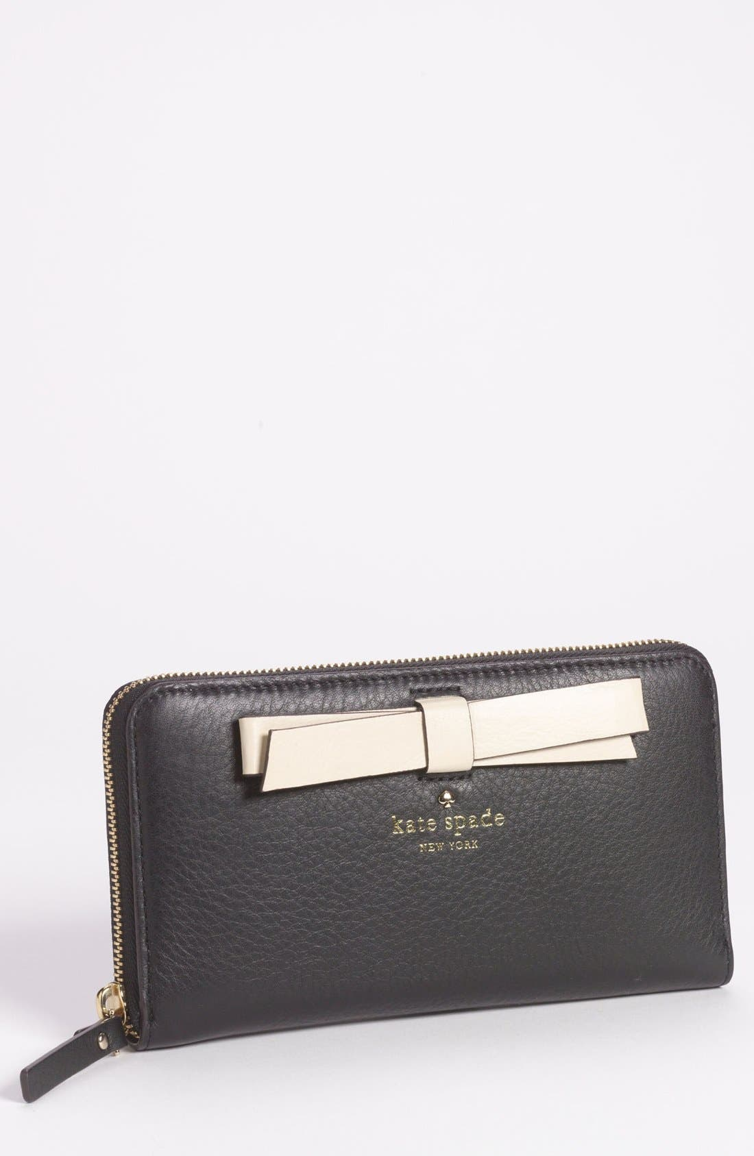 Alternate Image 1 Selected - kate spade new york 'hancock park - lacey' leather zip wallet