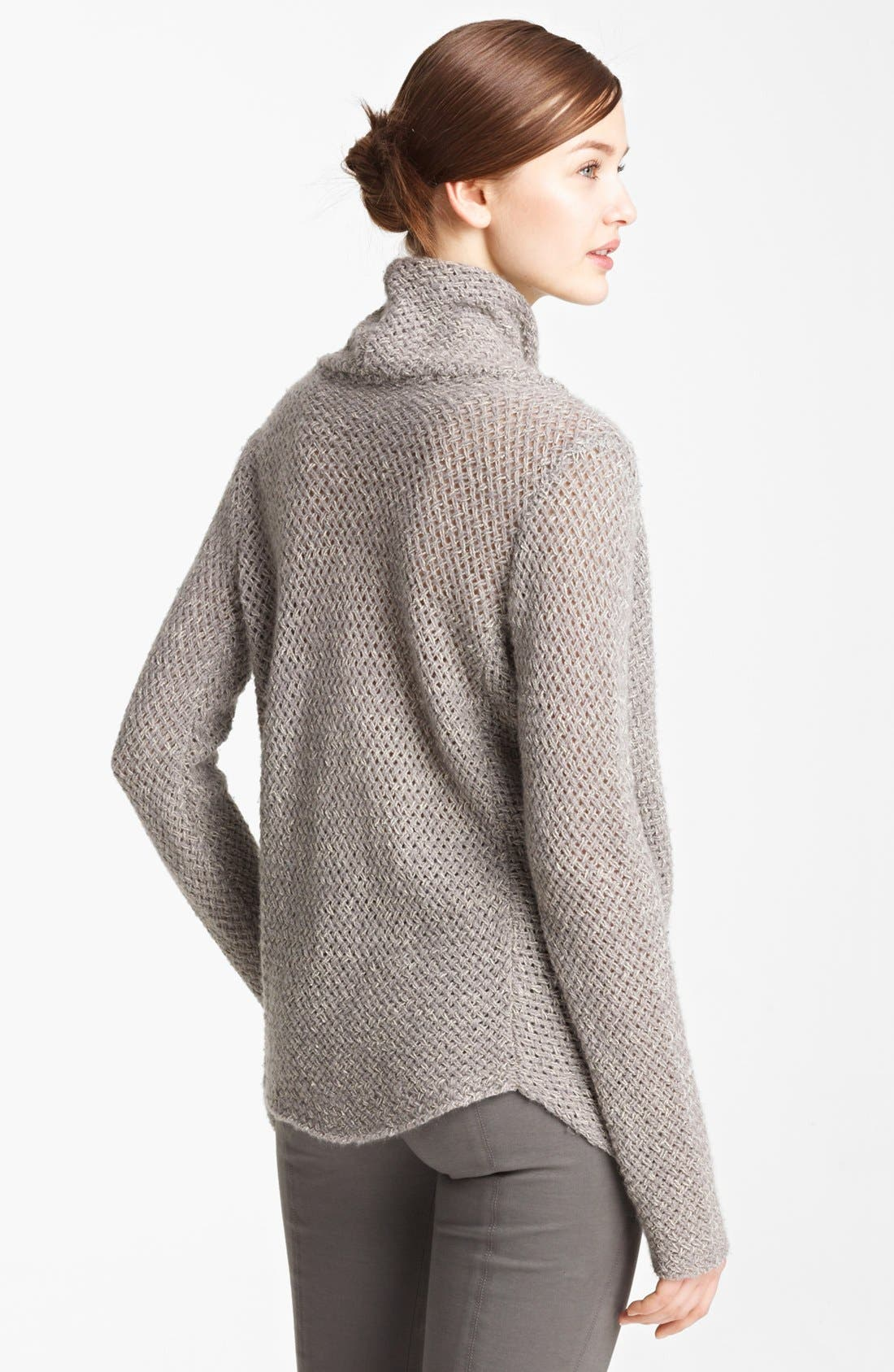 Alternate Image 2  - Donna Karan Collection Drape Neck Cashmere Sweater