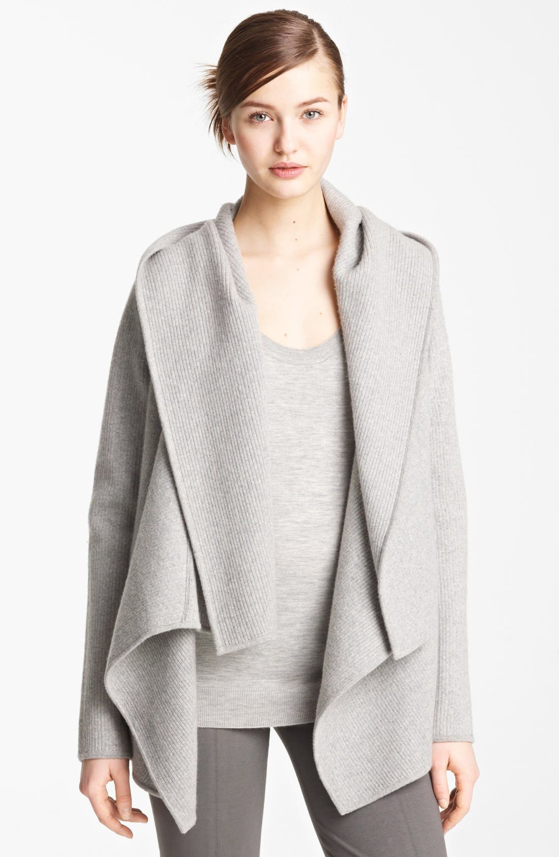 Main Image - Donna Karan Collection Hooded Cashmere Cozy