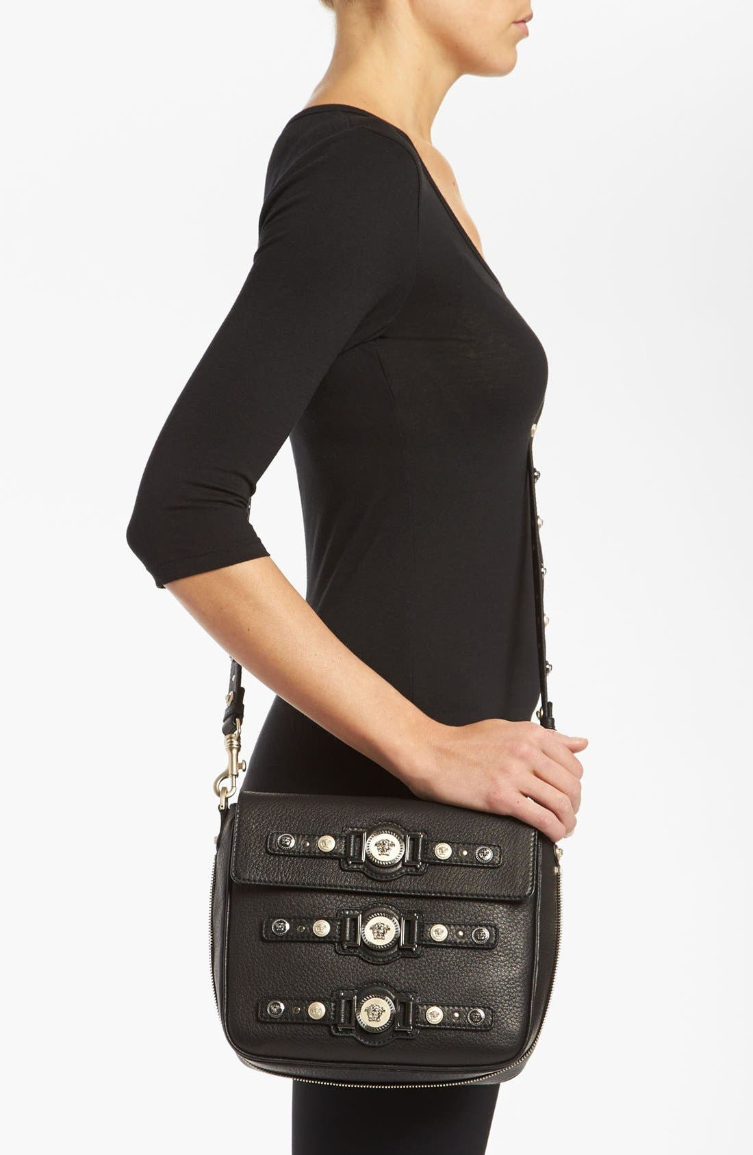 Alternate Image 2  - Versace 'Classic - Triple Medusa' Leather Crossbody Bag