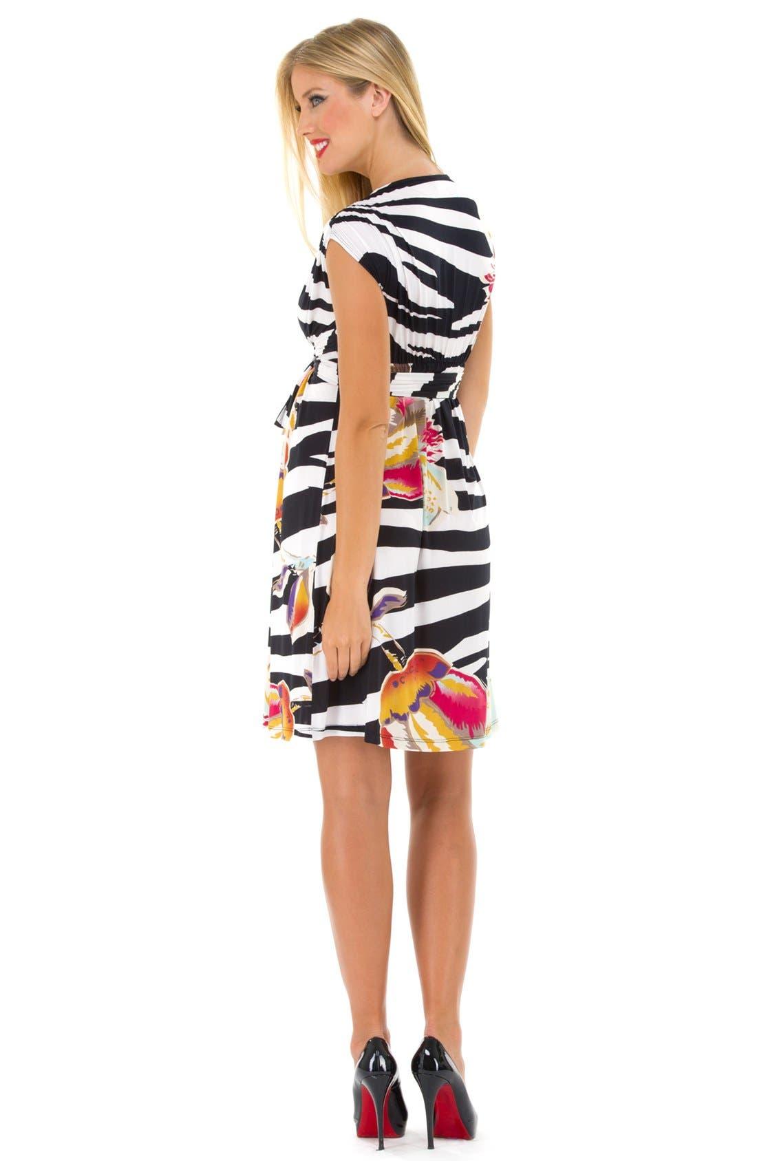 Alternate Image 2  - Olian Print Surplice Maternity Dress