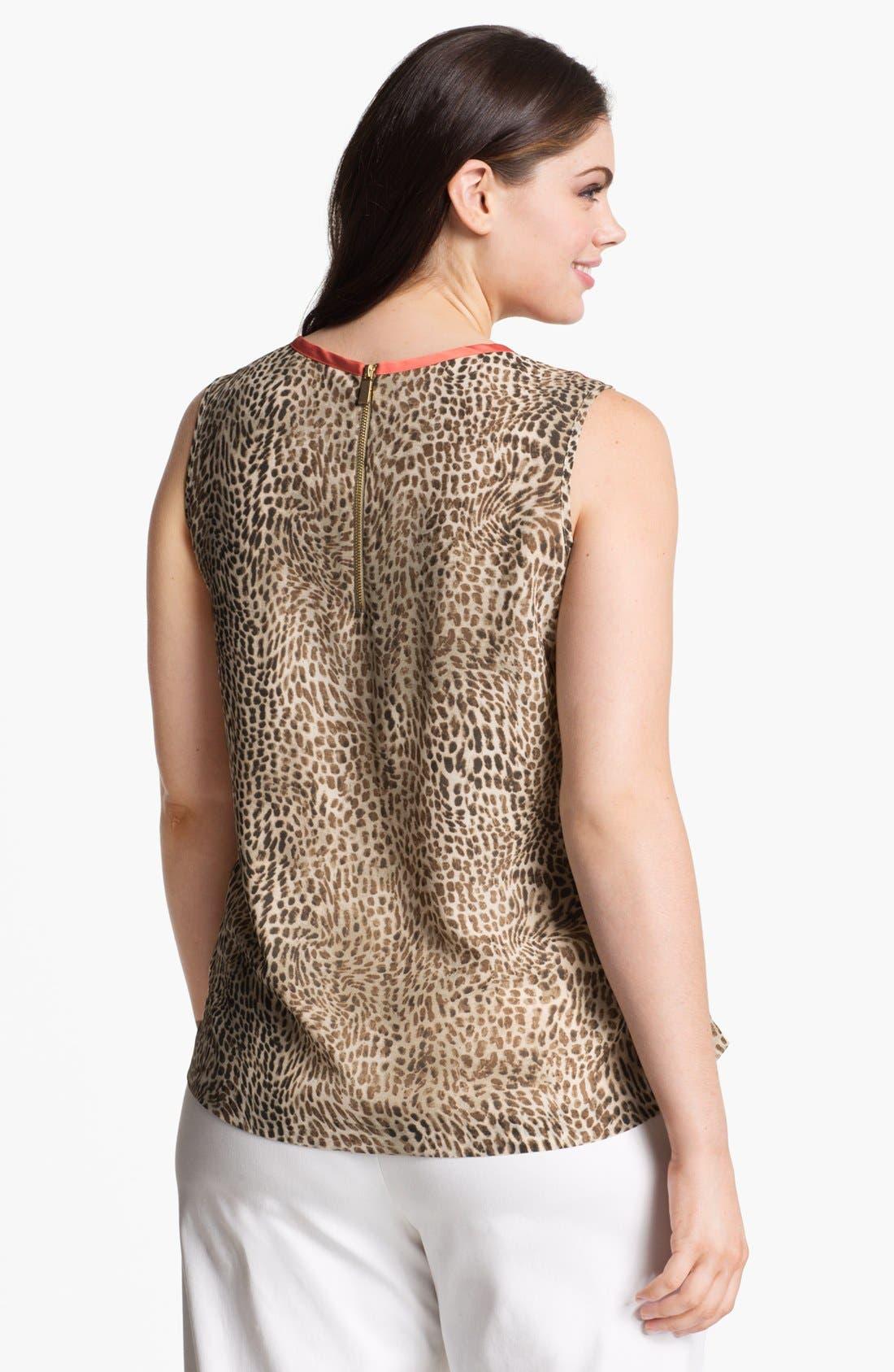 Alternate Image 2  - Vince Camuto Cheetah Print Blouse (Plus)