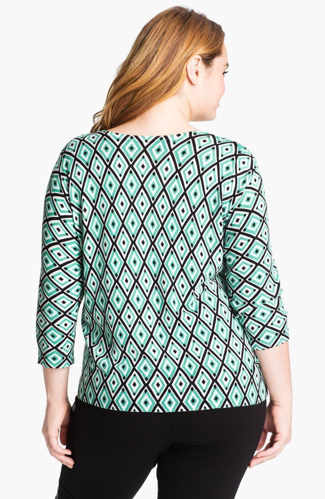 Alternate Image 2  - Sejour 'Spring' Pattern Cardigan (Plus Size)