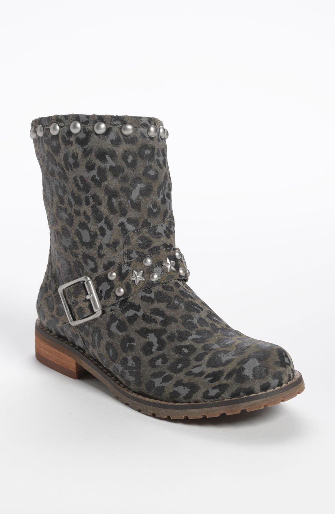 Alternate Image 1 Selected - Nordstrom 'Dakota' Short Suede Stud Boot (Little Kid & Big Kid)