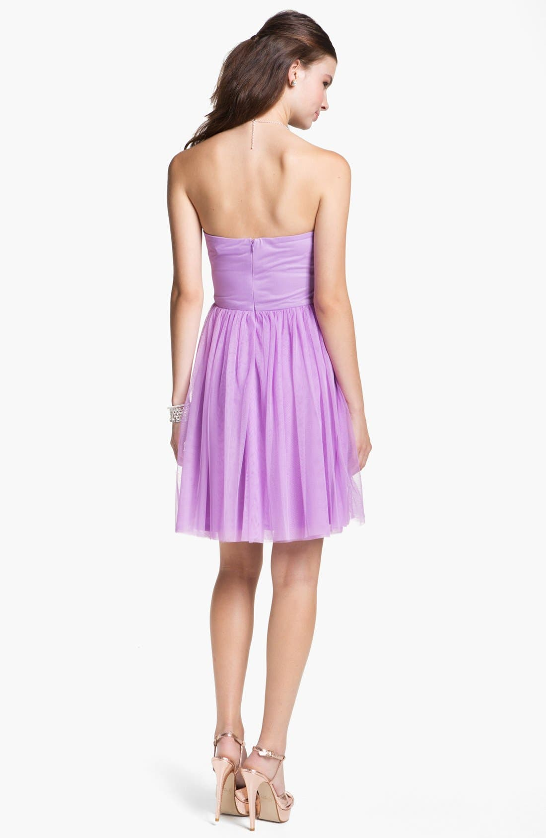 Alternate Image 2  - En Crème Chiffon Skater Dress (Juniors)
