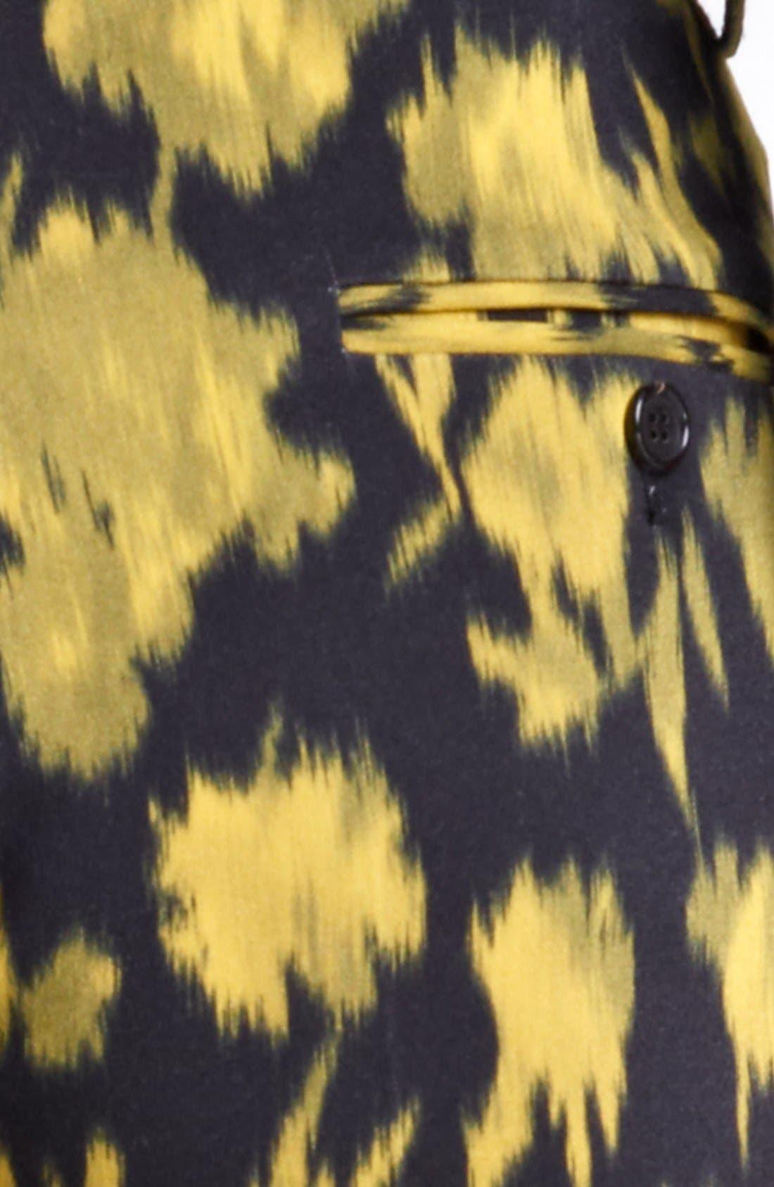 Alternate Image 3  - Michael Kors 'Samantha' Print Skinny Stretch Wool Pants