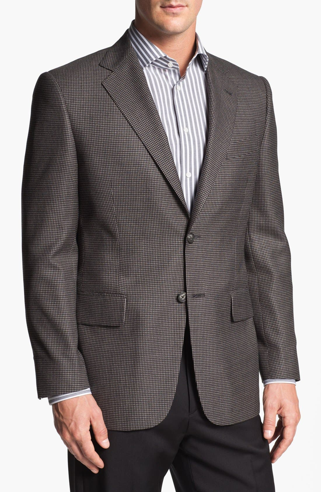 Alternate Image 1 Selected - Joseph Abboud 'Signature Silver' Check Sportcoat