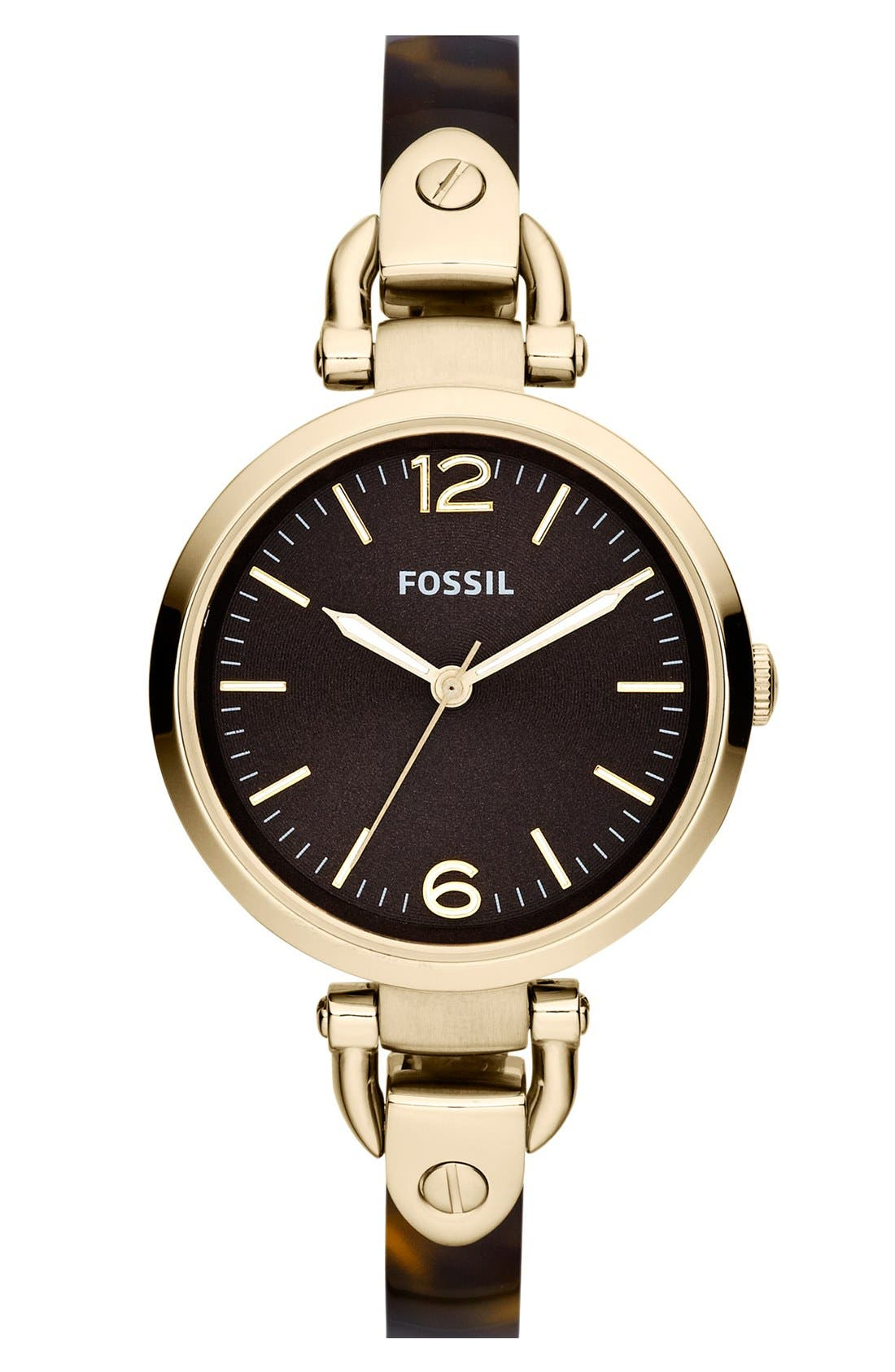 Alternate Image 1 Selected - Fossil 'Georgia' Bangle Watch, 32mm