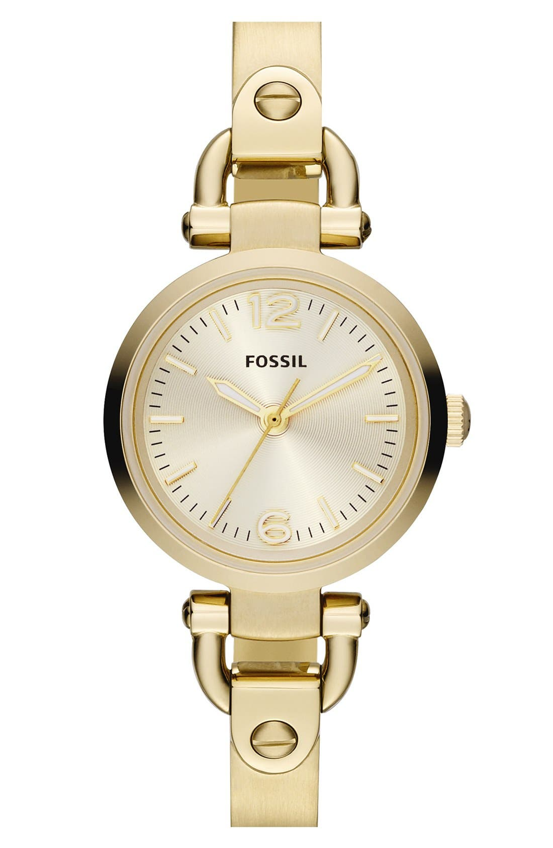 Alternate Image 1 Selected - Fossil 'Small Georgia' Round Dial Bangle Watch, 26mm