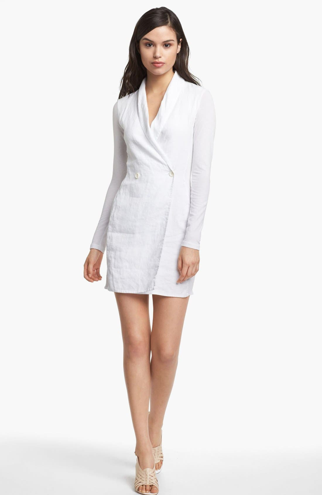 Alternate Image 1 Selected - James Perse Linen Blazer Dress