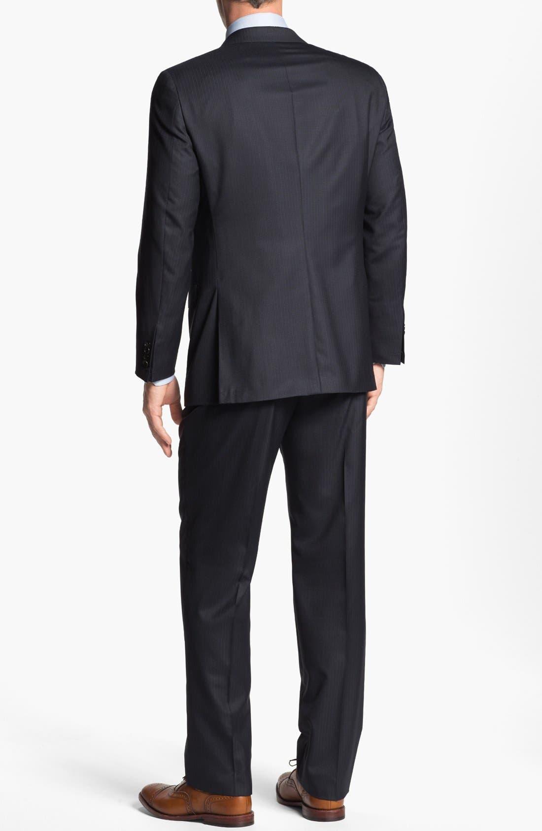 Alternate Image 3  - Hickey Freeman 'Beacon' Stripe Suit