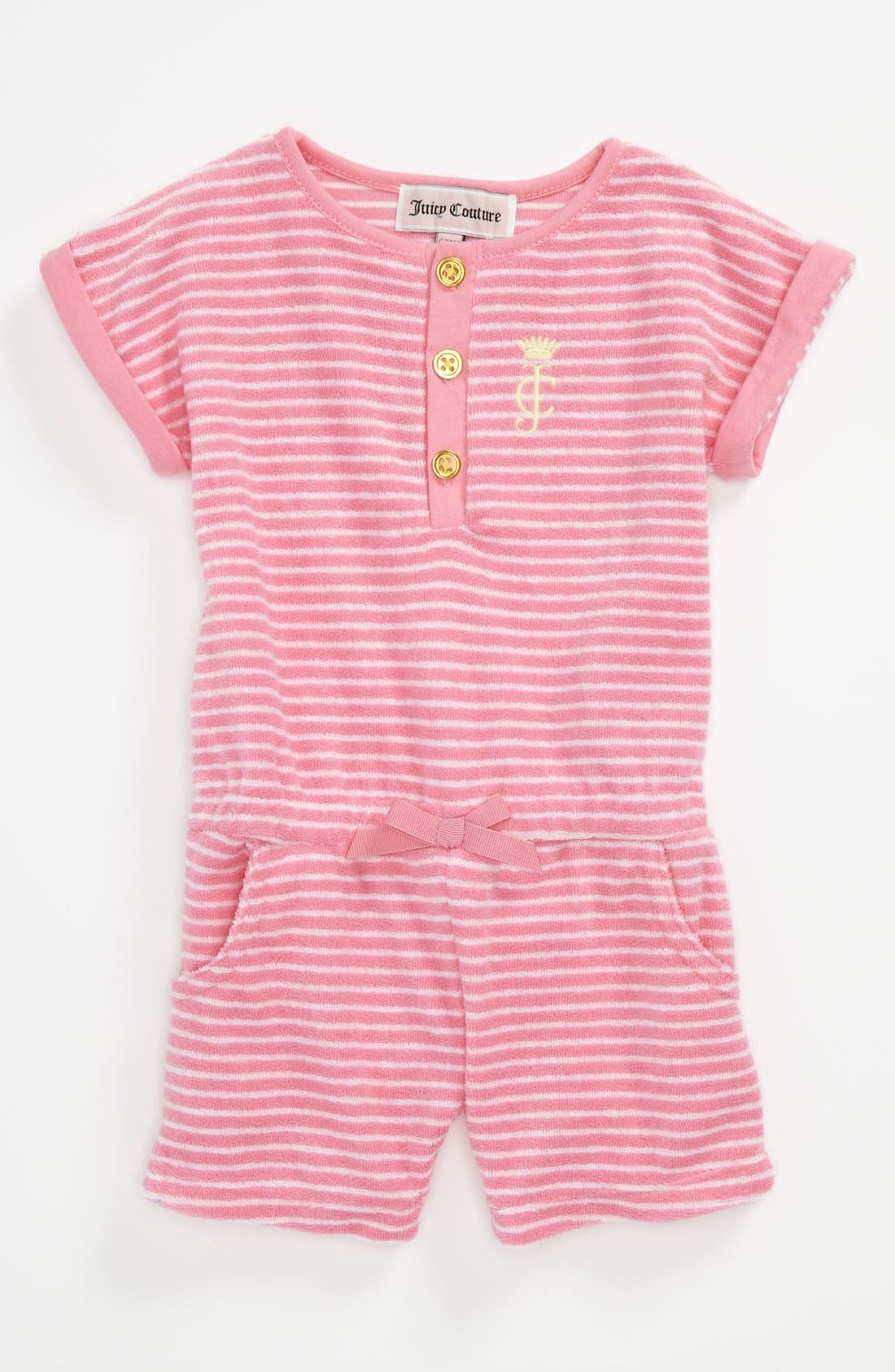 Alternate Image 1 Selected - Juicy Couture Terry Cloth Coveralls (Baby)