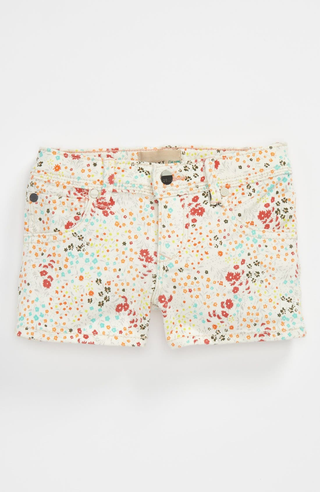 Alternate Image 2  - 'Festival' Colored Denim Shorts (Little Girls)