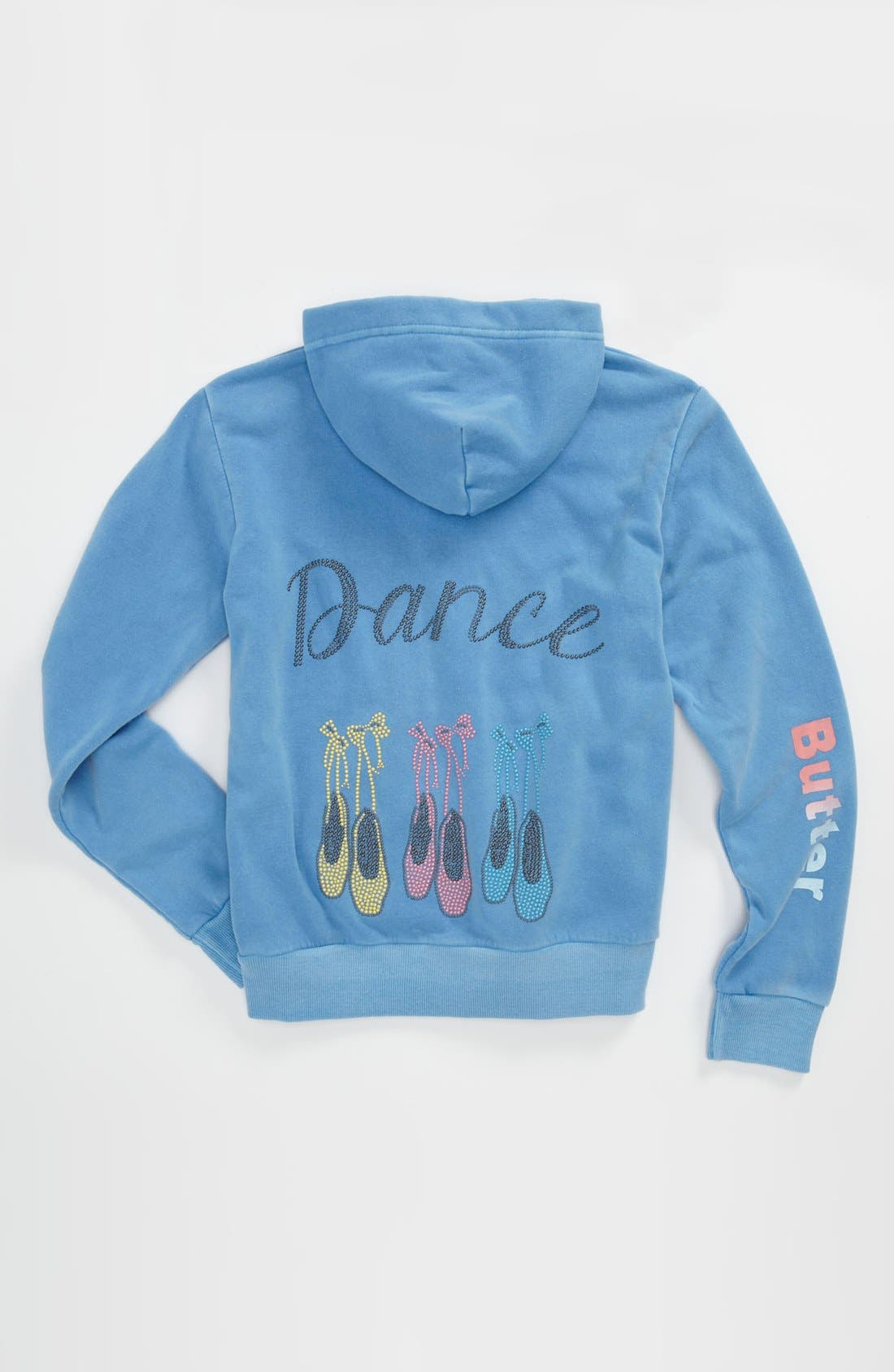 Alternate Image 1 Selected - Butter Supersoft 'Ballet Slippers' Hoodie (Big Girls)