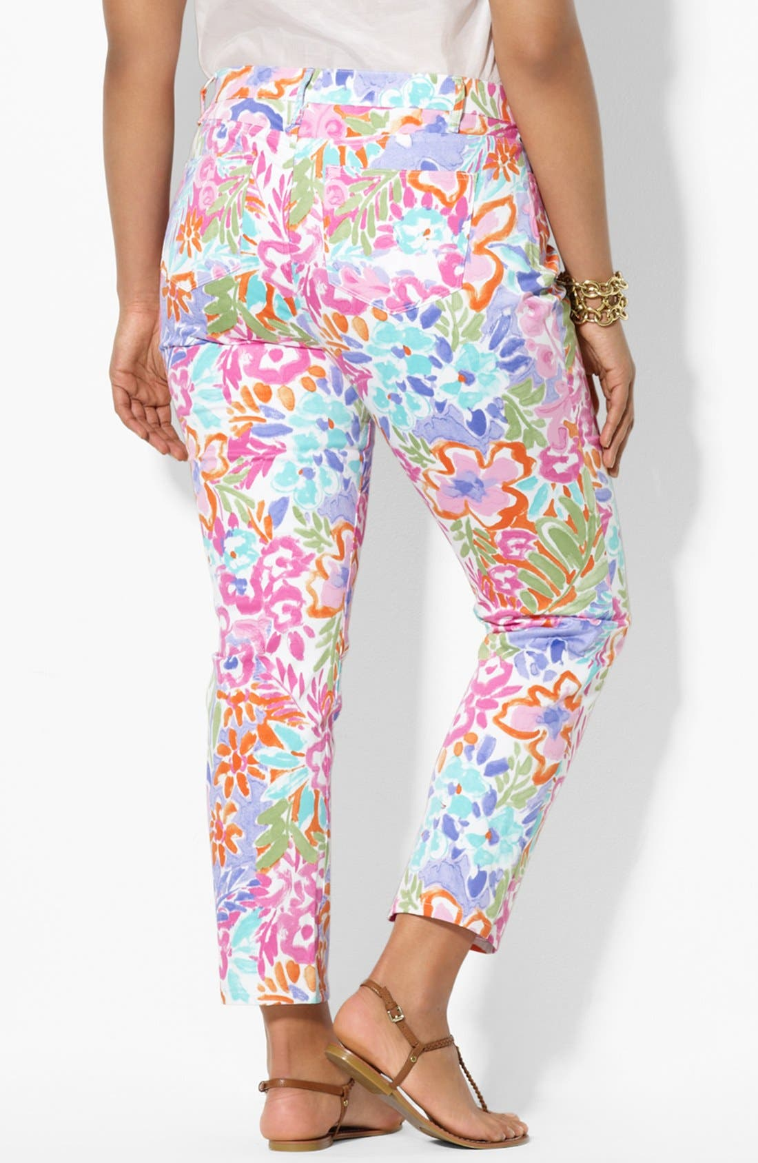 Alternate Image 4  - Lauren Ralph Lauren Modern Skinny Ankle Pants (Plus Size)