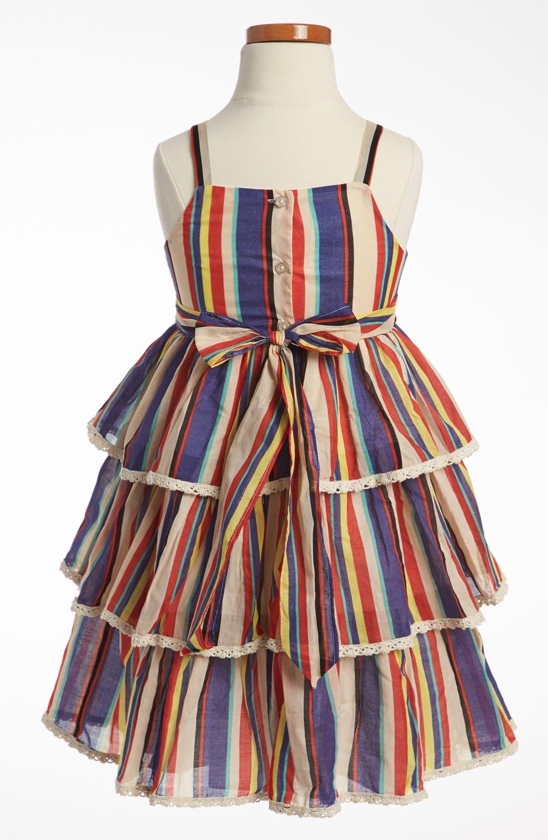 Alternate Image 2  - Pippa & Julie Stripe Dress (Little Girls & Big Girls)