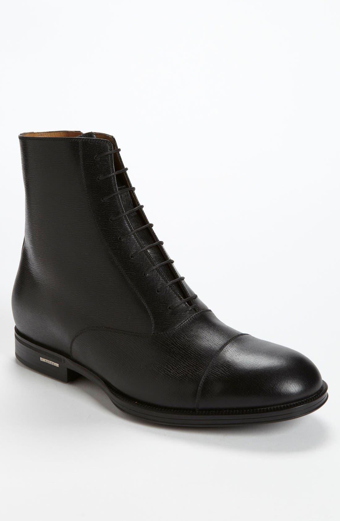 Alternate Image 1 Selected - Gucci 'Handir' Cap Toe Boot