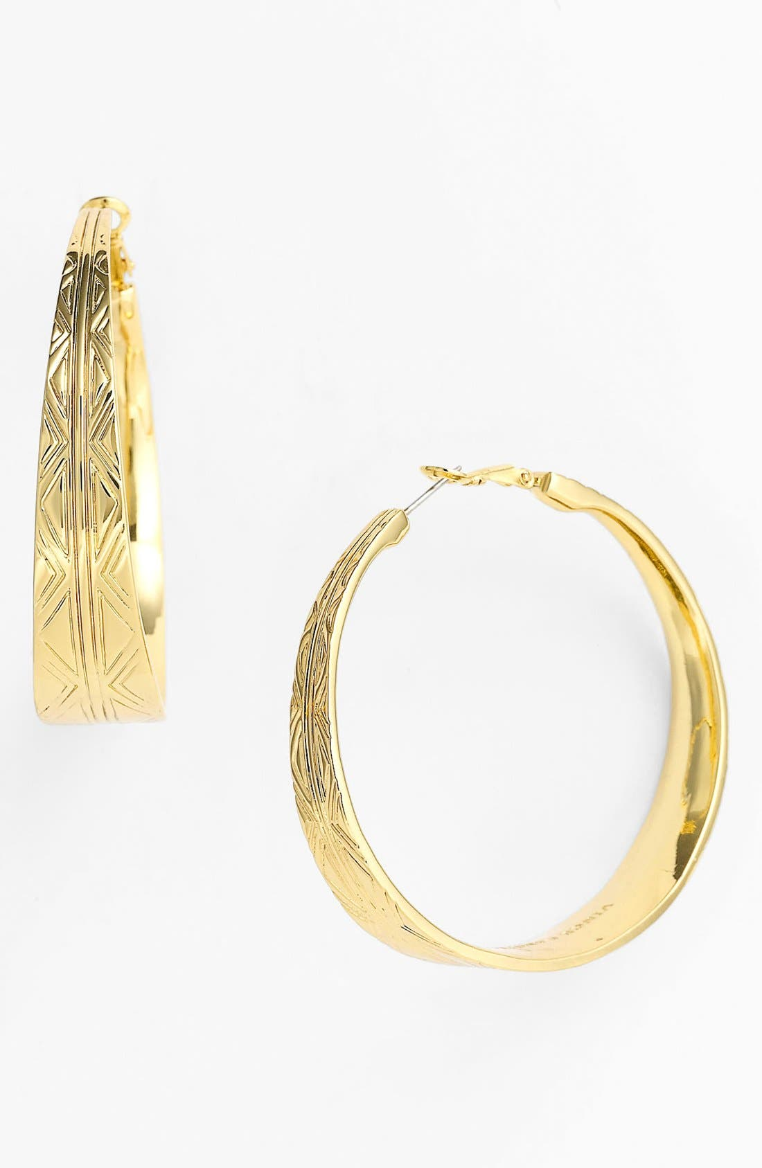 Alternate Image 1 Selected - Vince Camuto 'Tribal Fusion' Tapered Hoop Earrings