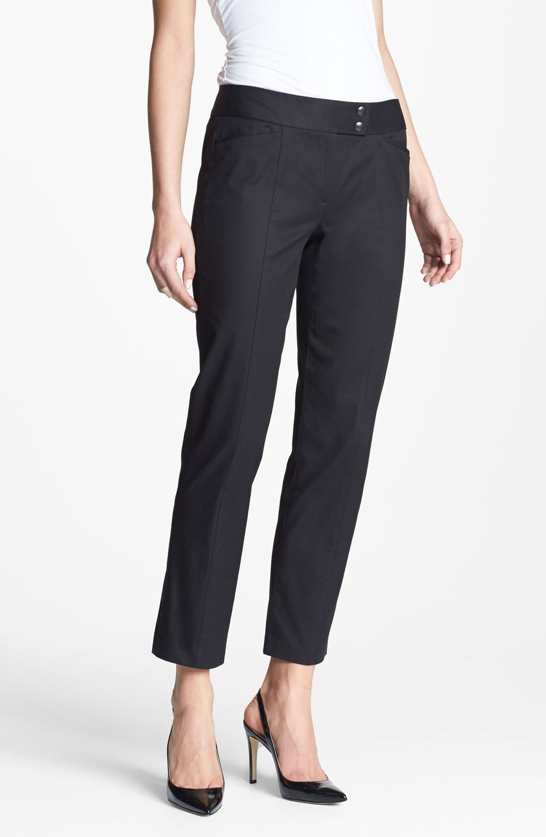 Alternate Image 1 Selected - Classiques Entier® 'New Chicca' Tab Front Pants