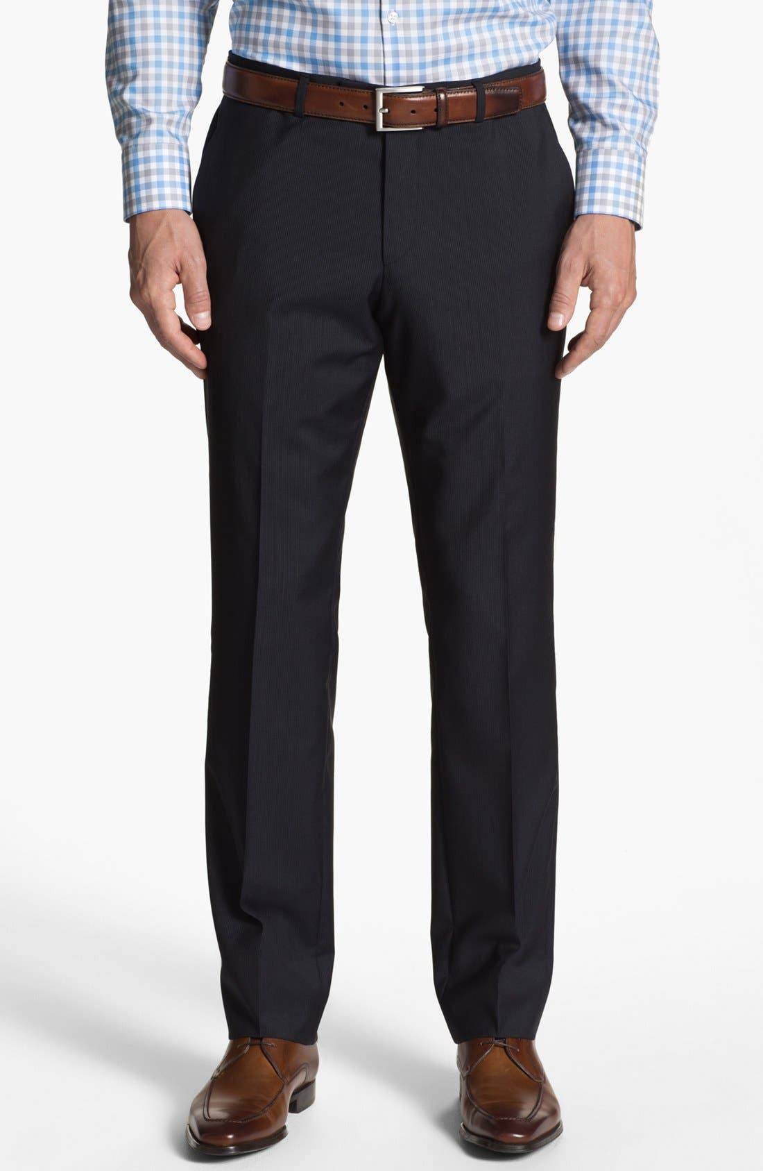 Alternate Image 5  - BOSS HUGO BOSS 'James/Sharp' Trim Fit Stripe Suit