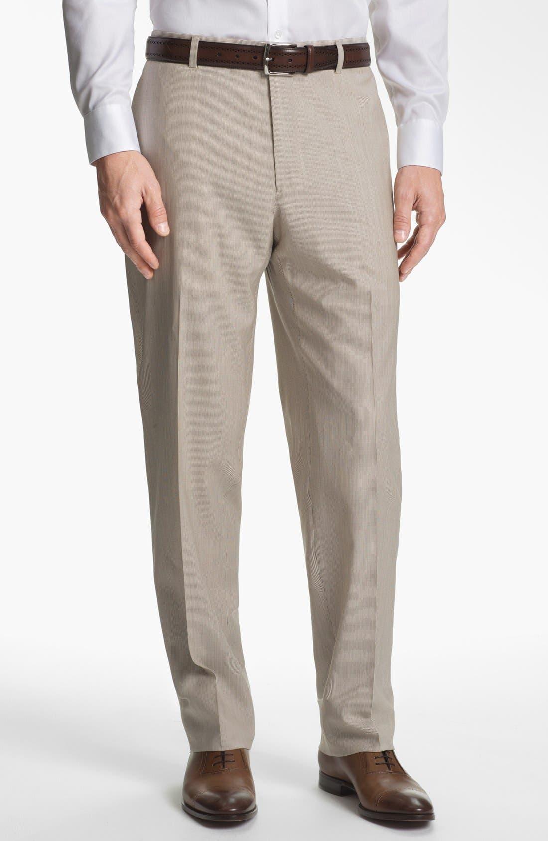 Alternate Image 5  - Joseph Abboud Trim Fit Stripe Wool Suit