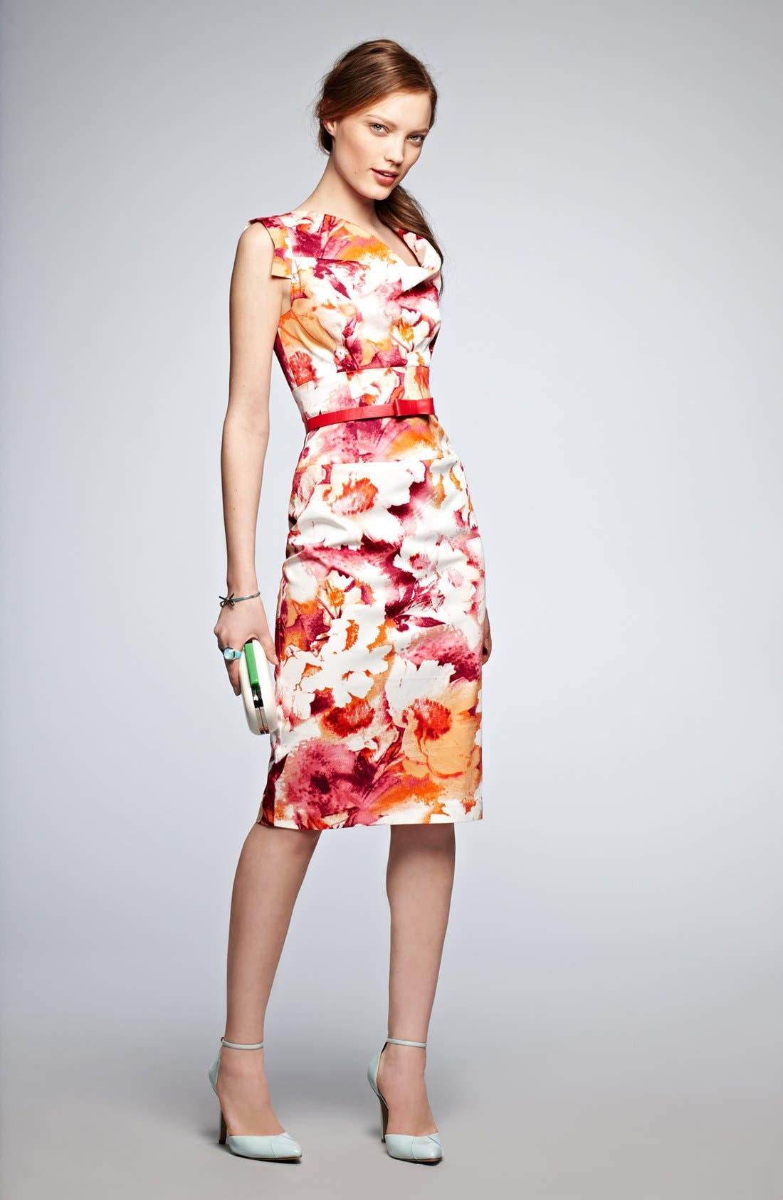 Alternate Image 4  - Black Halo Tab Sleeve Print Sheath Dress