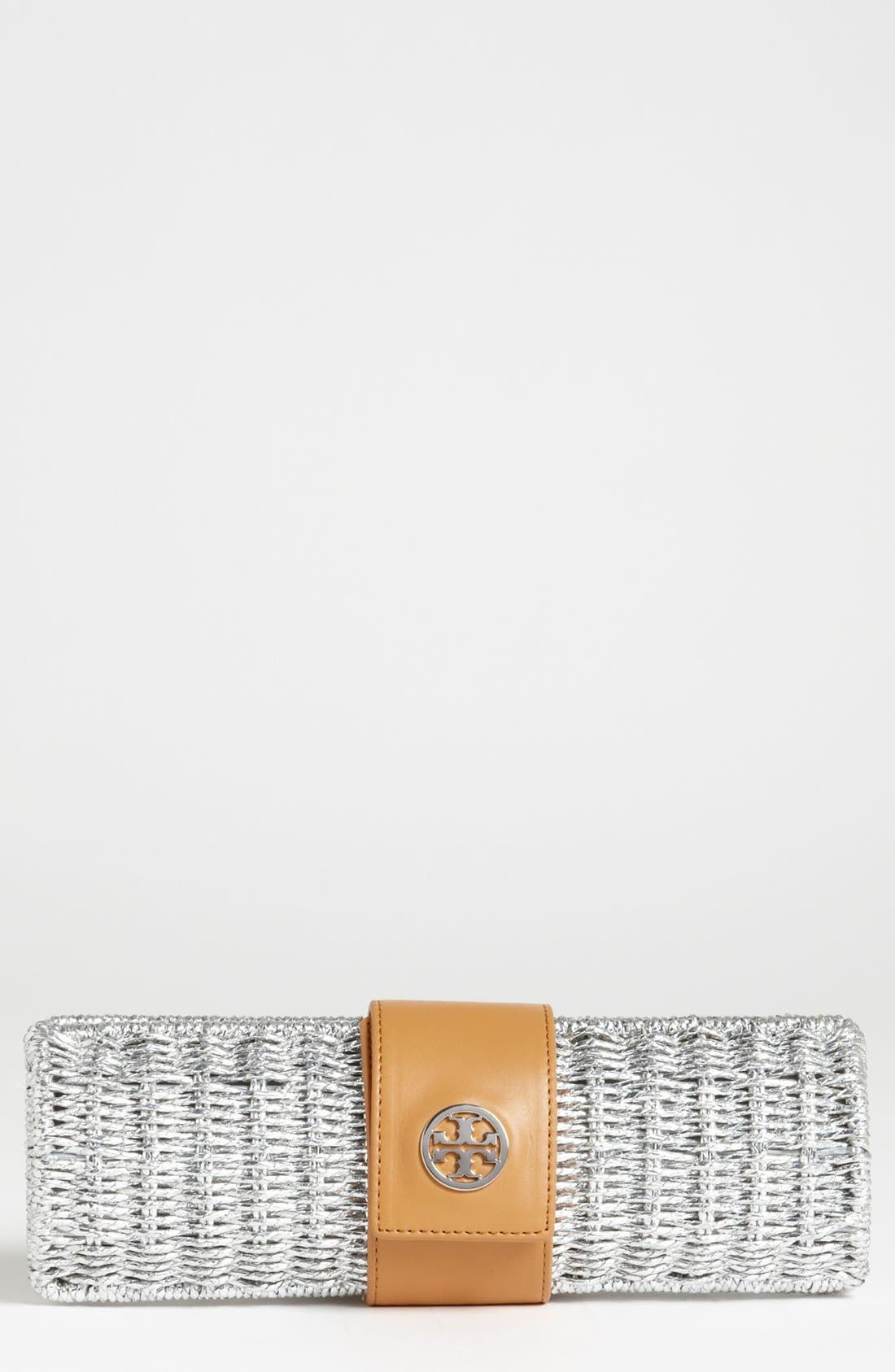 Alternate Image 1 Selected - Tory Burch 'Chunky' Straw Clutch