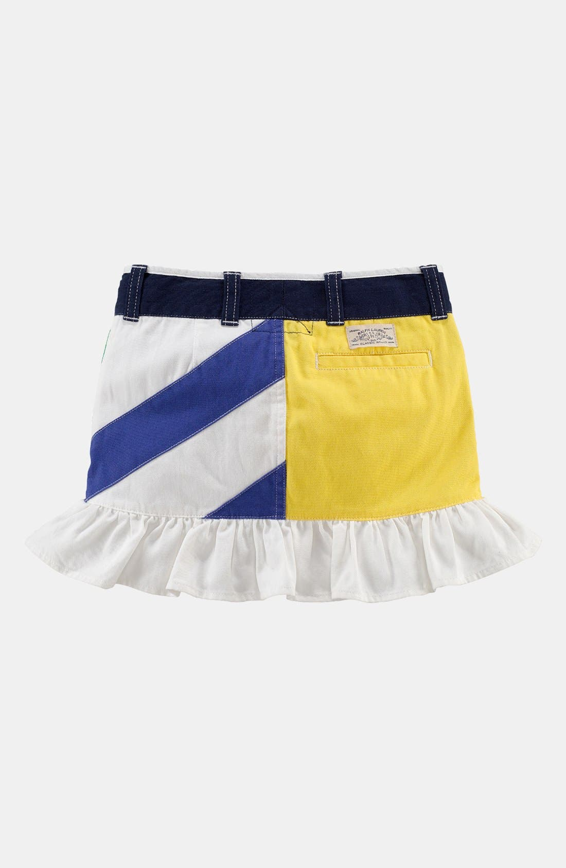 Alternate Image 2  - Ralph Lauren Ruffle Skirt (Toddler)